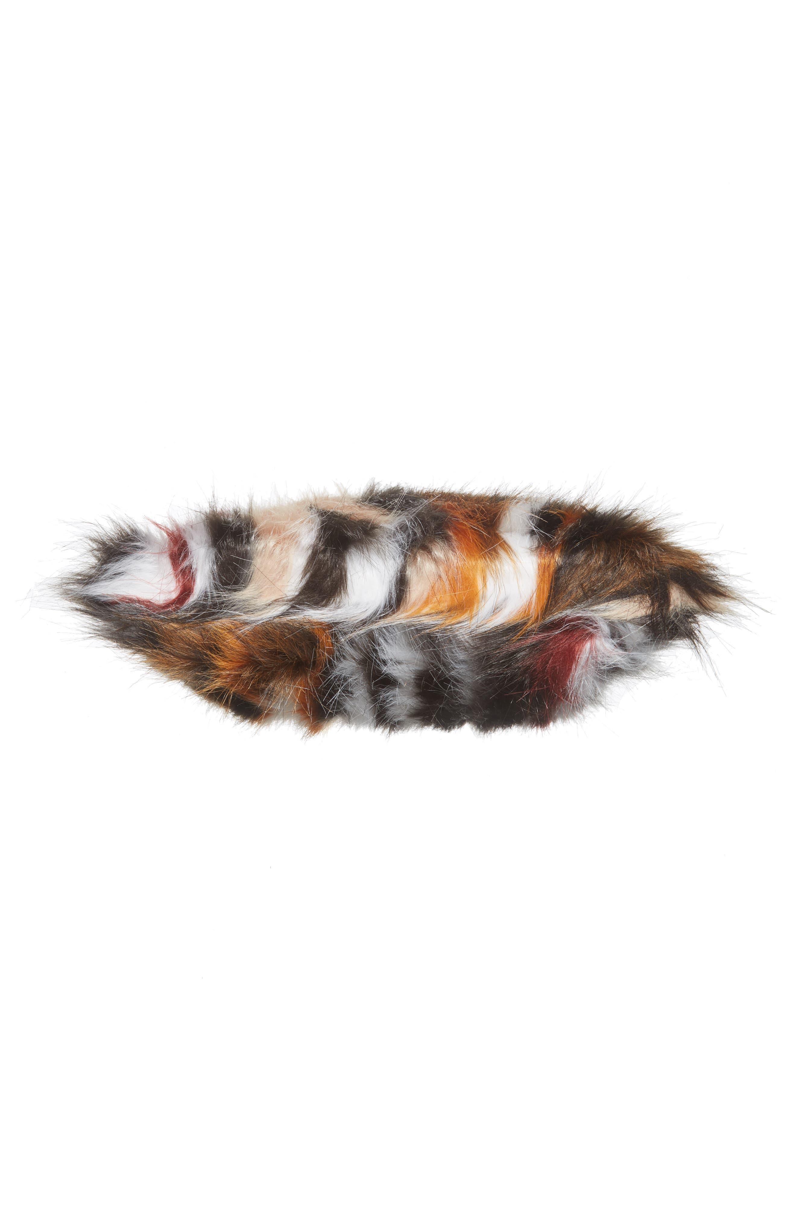 Faux Fur Clutch,                             Alternate thumbnail 11, color,