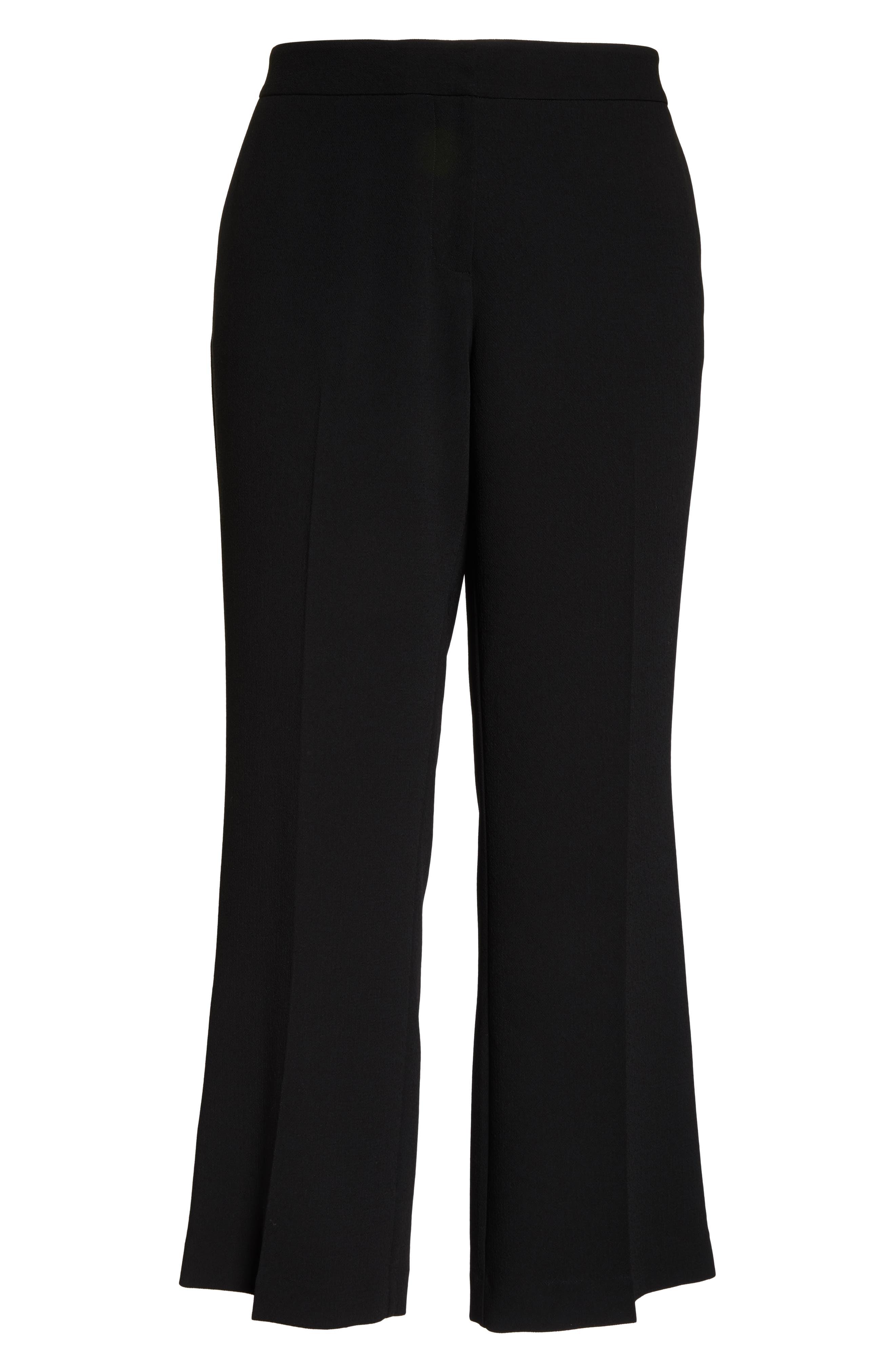VINCE CAMUTO,                             Parisian Crepe Straight Leg Pants,                             Alternate thumbnail 7, color,                             RICH BLACK