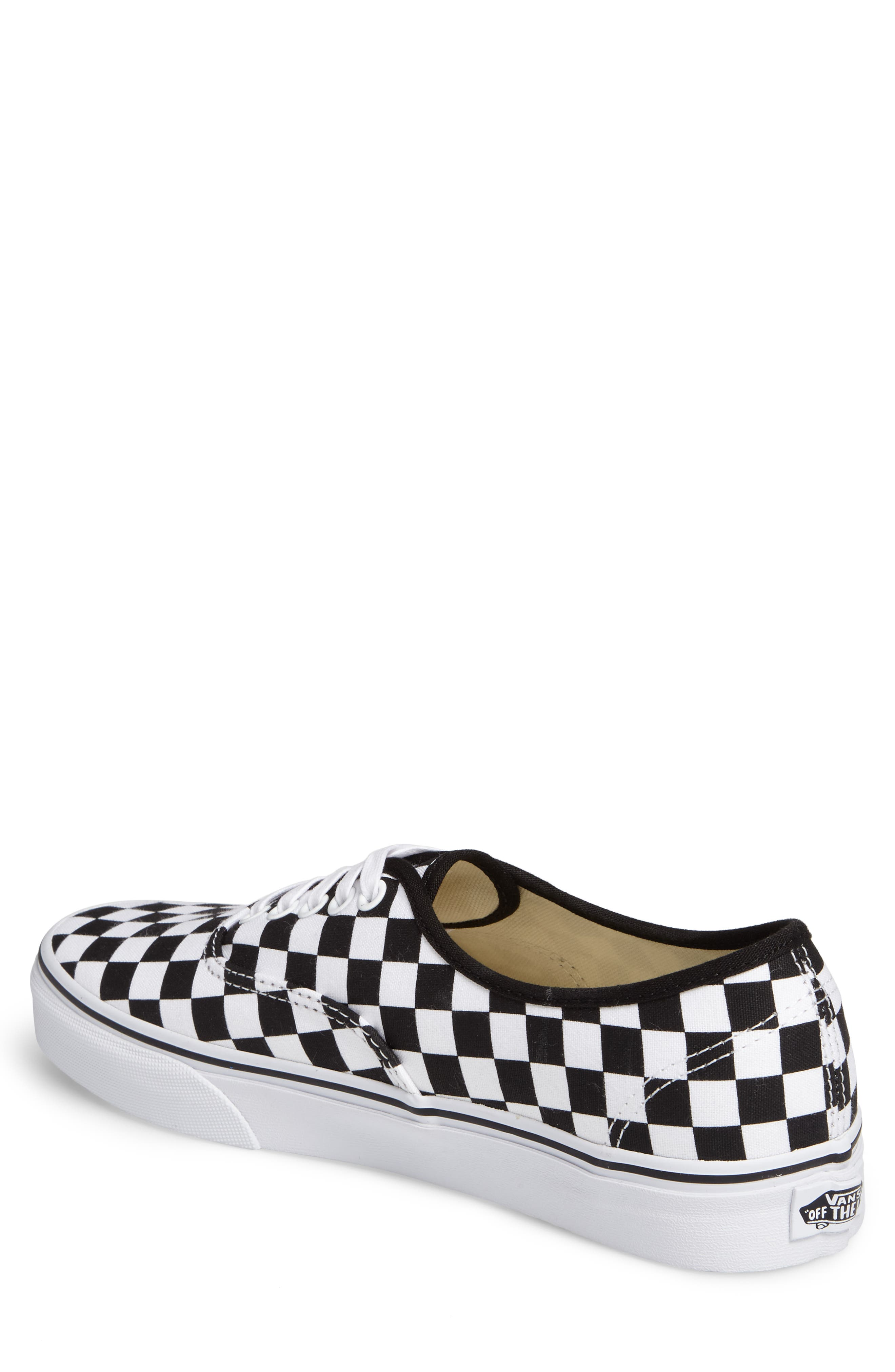 Authentic Sneaker,                             Alternate thumbnail 2, color,                             BLACK/ WHITE CHECKERBOARD