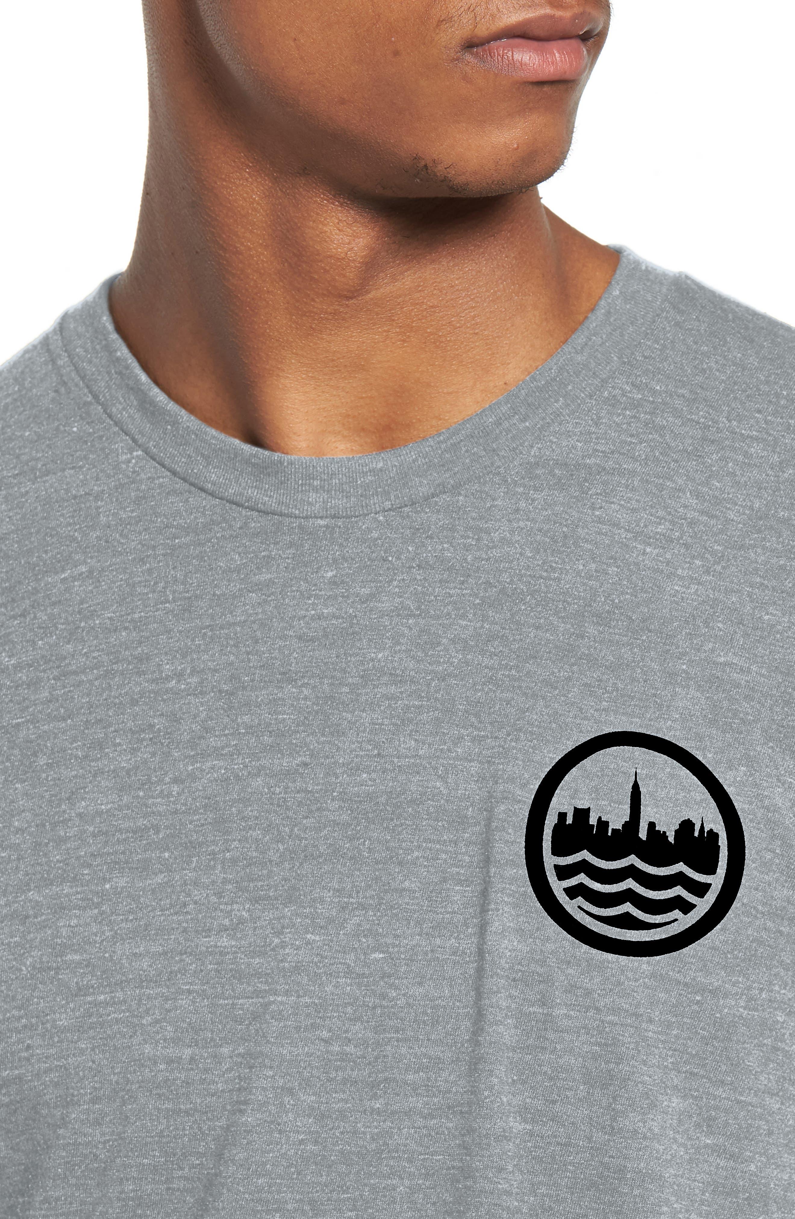 NYC Graphic T-Shirt,                             Alternate thumbnail 4, color,                             TRI BLAK
