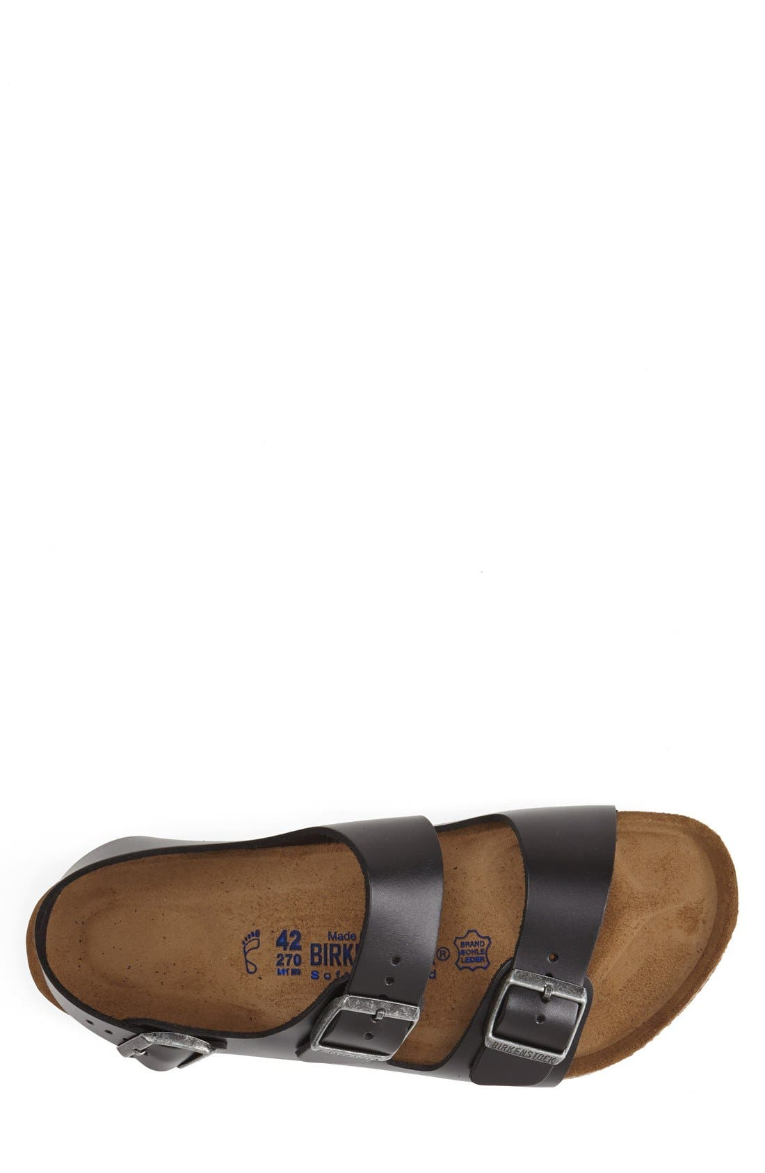 'Milano' Soft Footbed Sandal,                             Alternate thumbnail 4, color,                             AMALFI BLACK