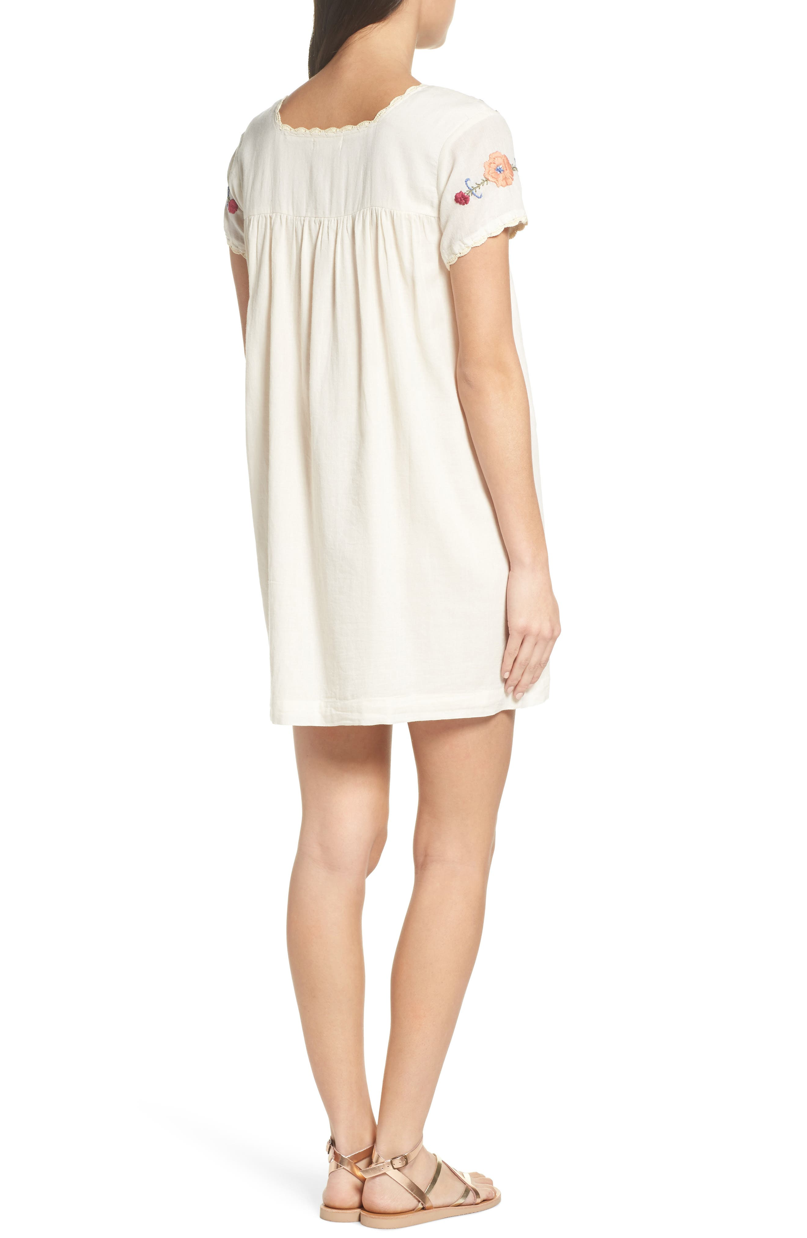 Embroidered Shift Dress,                             Alternate thumbnail 2, color,                             110