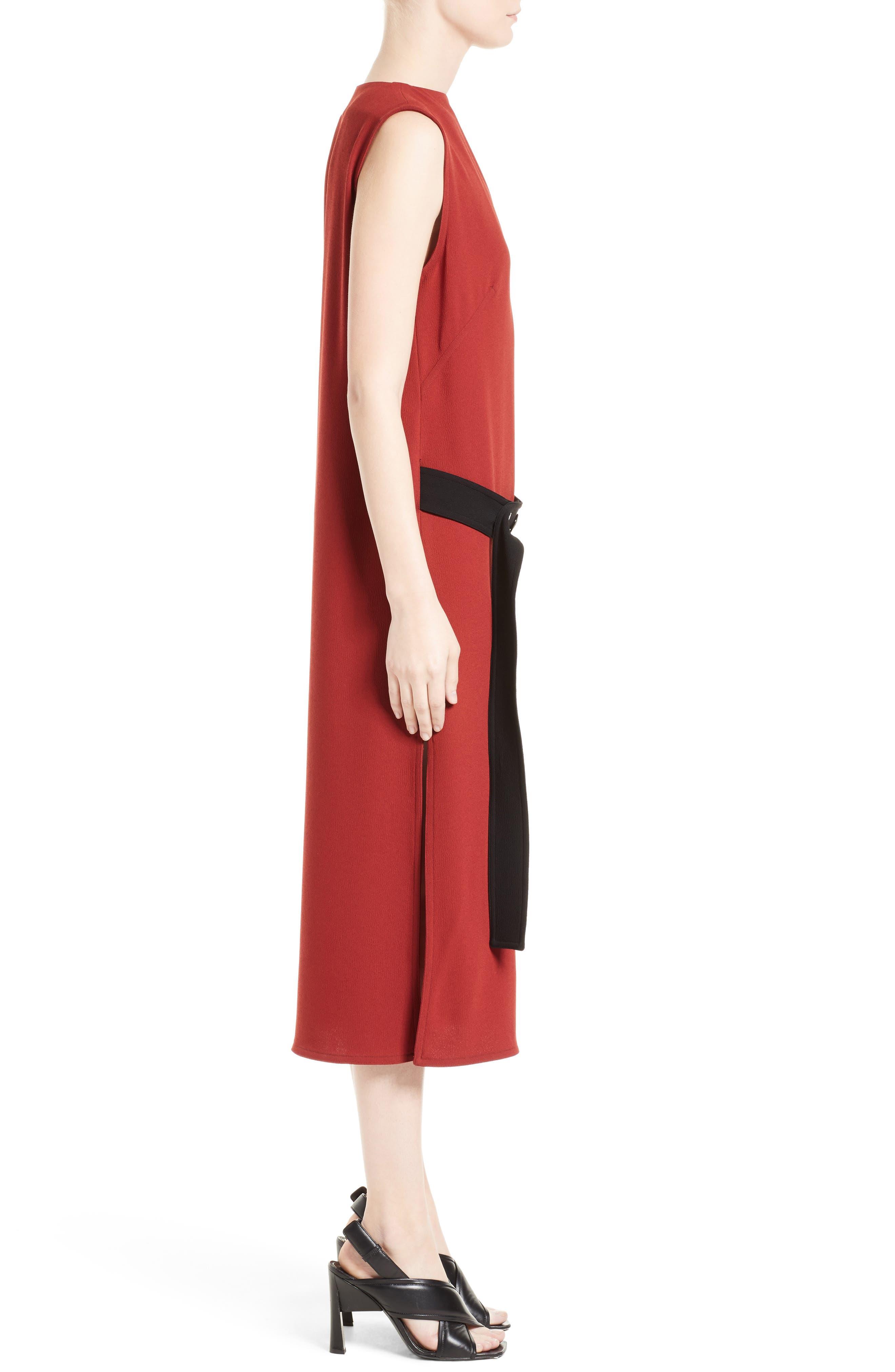 Crepe Asymmetrical Dress,                             Alternate thumbnail 3, color,