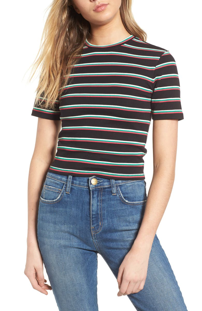 0f935068639 BP. Stripe Crop Tee (Regular   Plus Size)