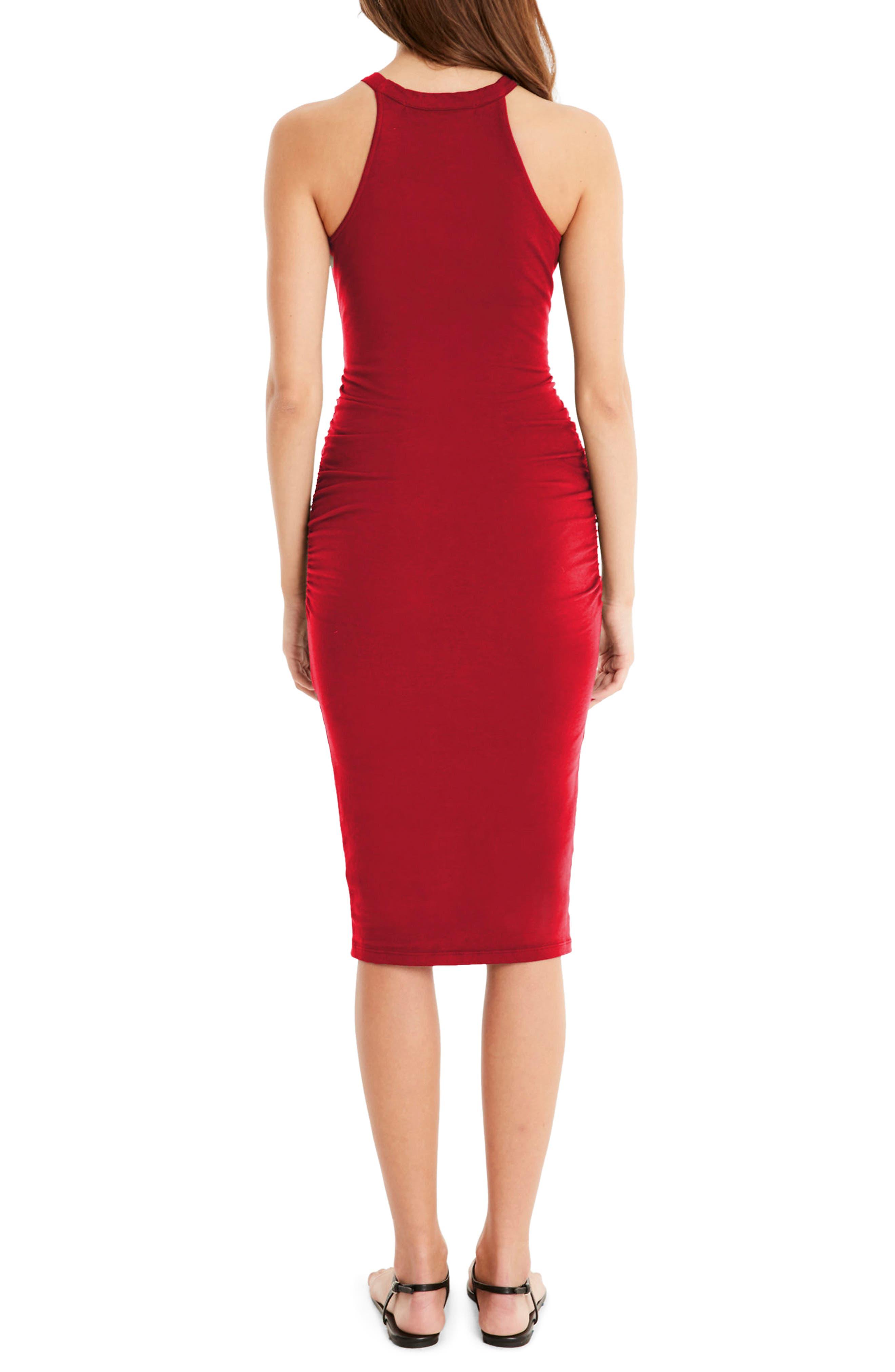 Halter Midi Dress,                             Alternate thumbnail 5, color,