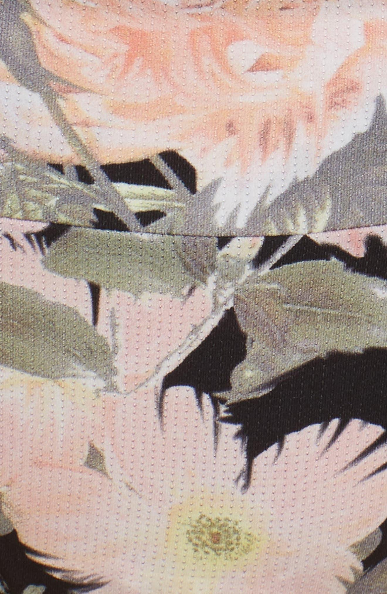 Beau Floral Thong,                             Alternate thumbnail 5, color,                             001