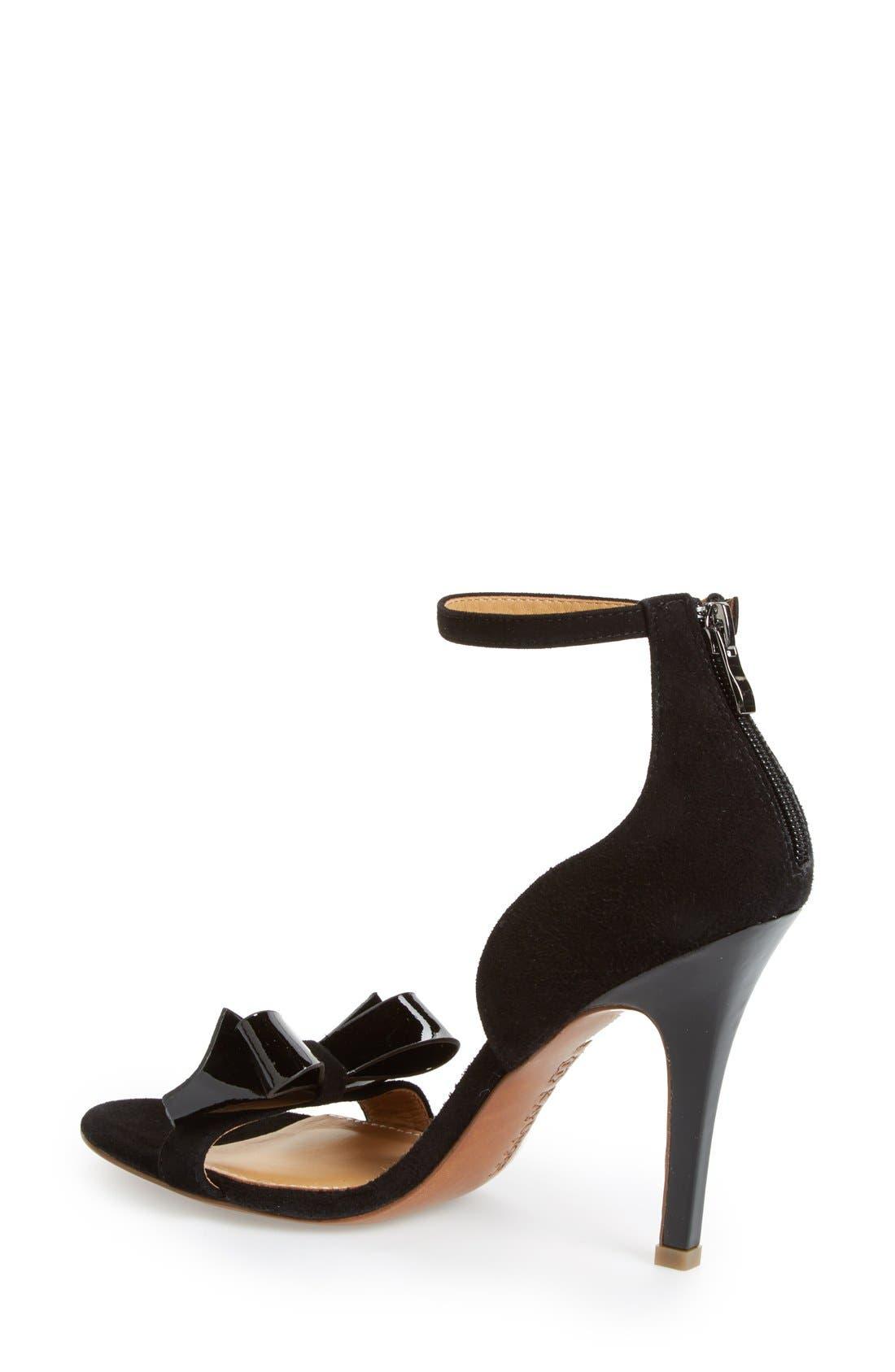 'Baroque' Ankle Strap Sandal,                             Alternate thumbnail 4, color,                             001