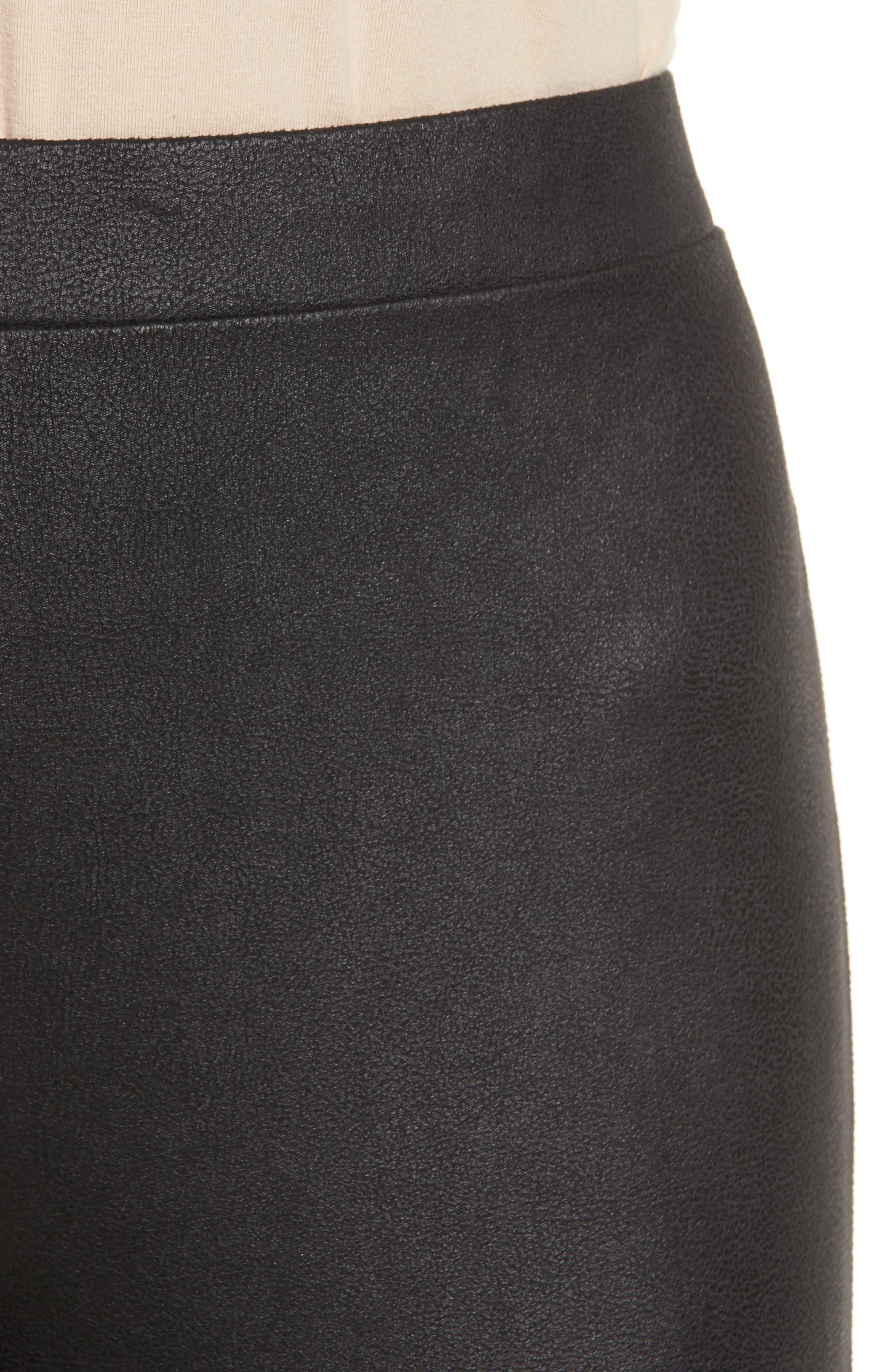High Waist Faux Leather Leggings,                             Alternate thumbnail 4, color,                             001