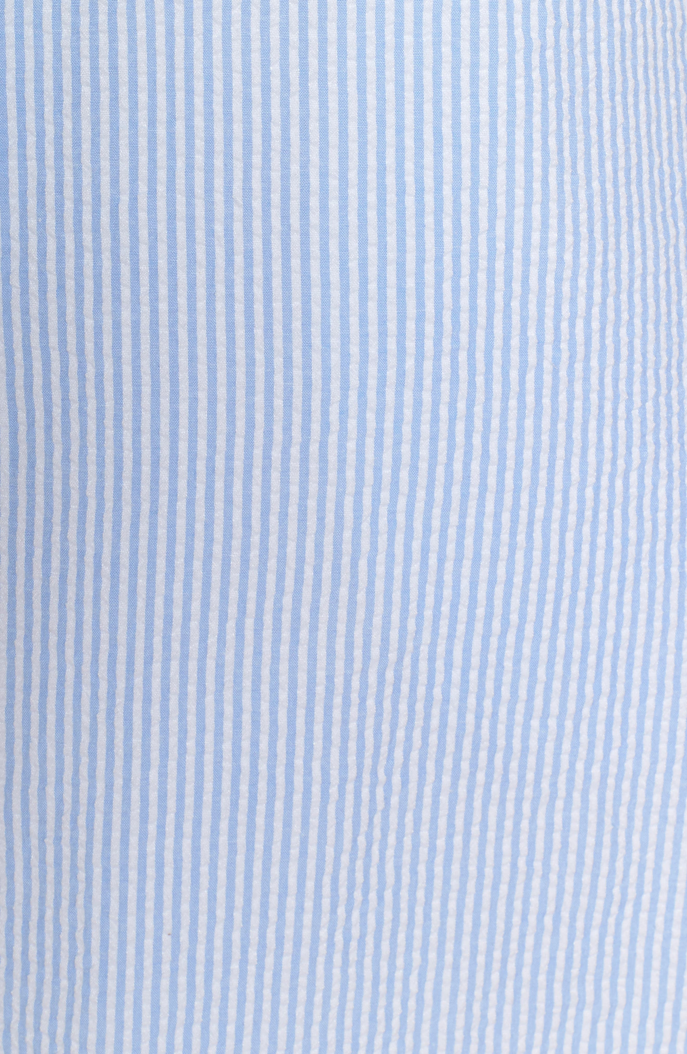 Bow Seersucker Dress,                             Alternate thumbnail 5, color,                             420