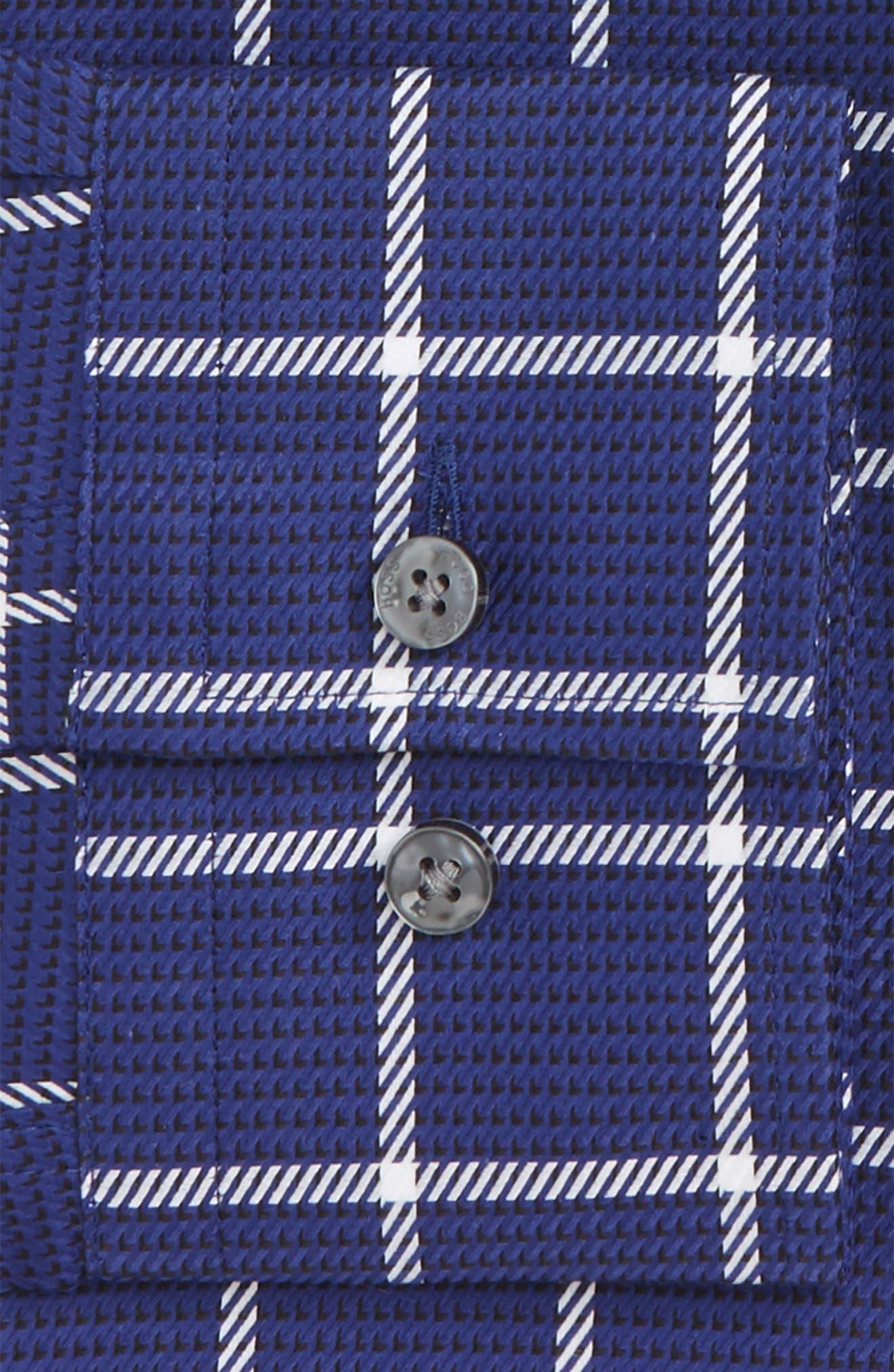 Jason Slim Fit Windowpane Dress Shirt,                             Alternate thumbnail 2, color,