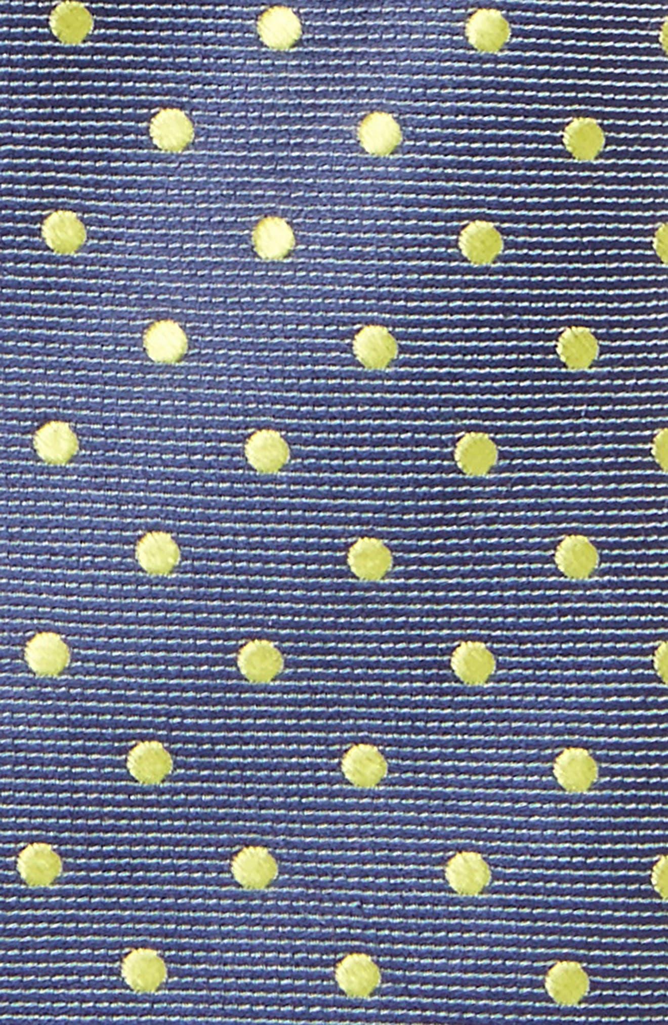 Dot Cotton & Silk Tie,                             Alternate thumbnail 2, color,