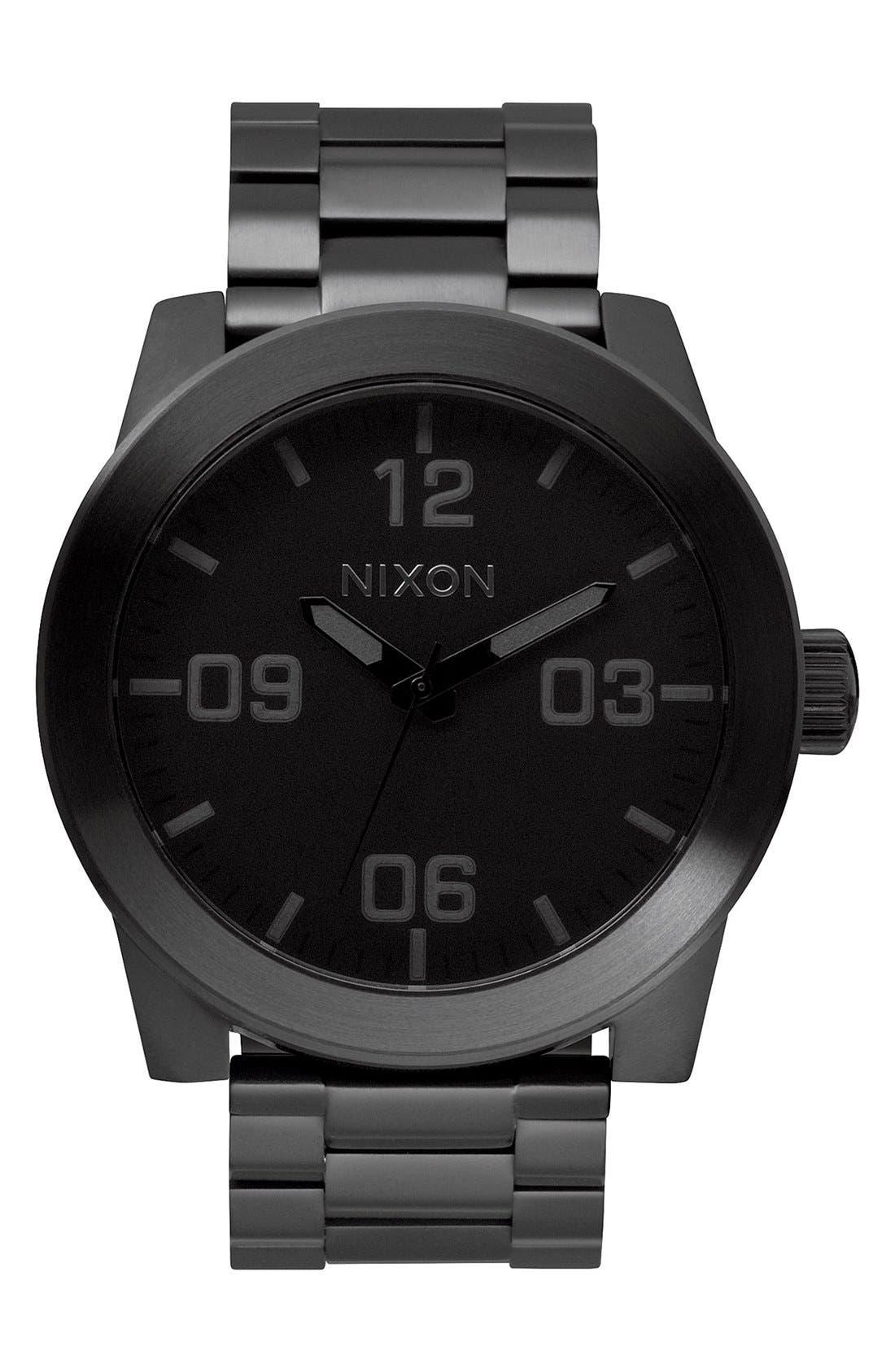 'The Corporal' Bracelet Watch, 48mm,                         Main,                         color, BLACK