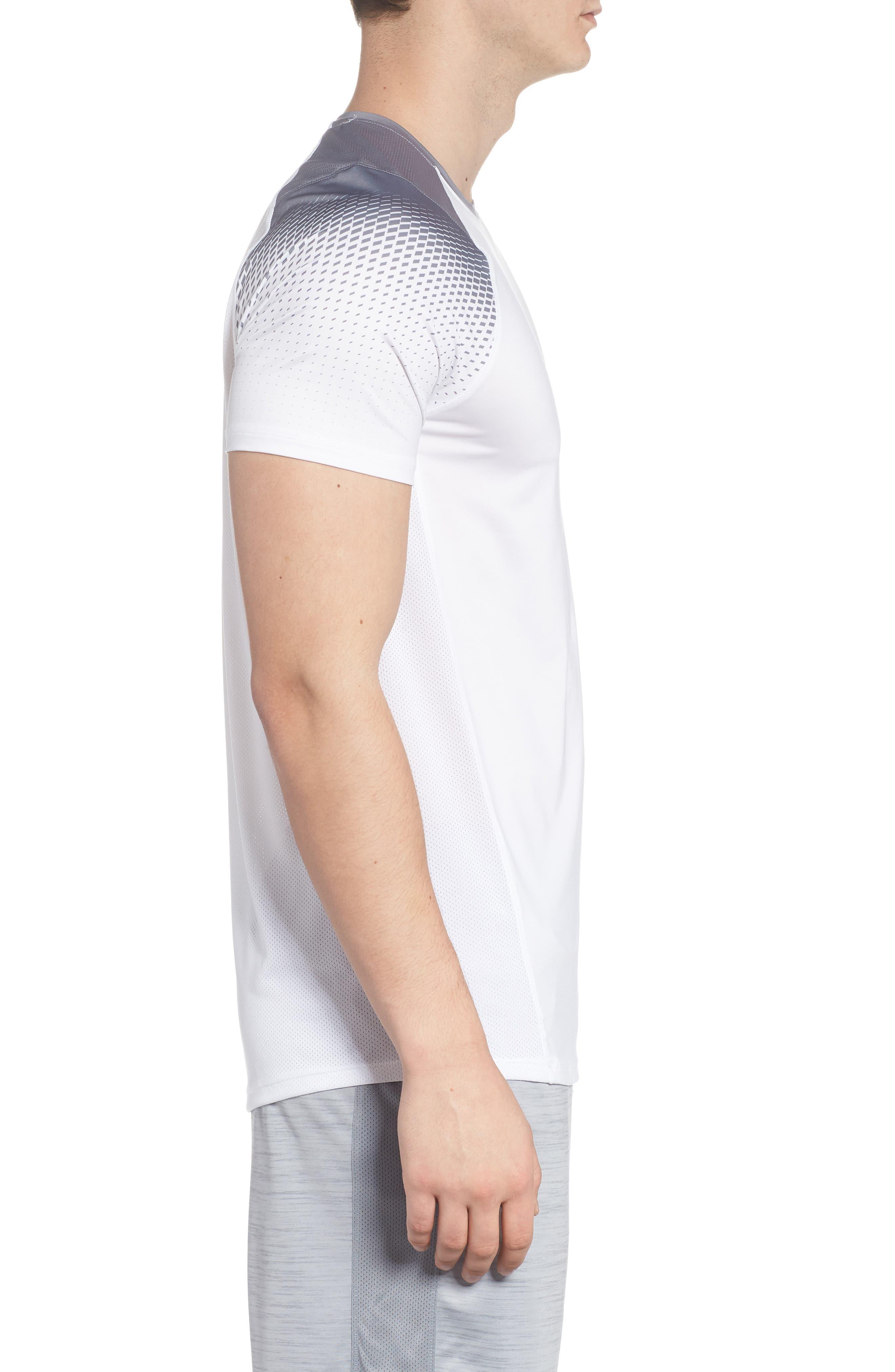 MK1 Dash Print Crewneck T-Shirt,                             Alternate thumbnail 3, color,                             WHITE / ZINC GREH / GRAPHITE