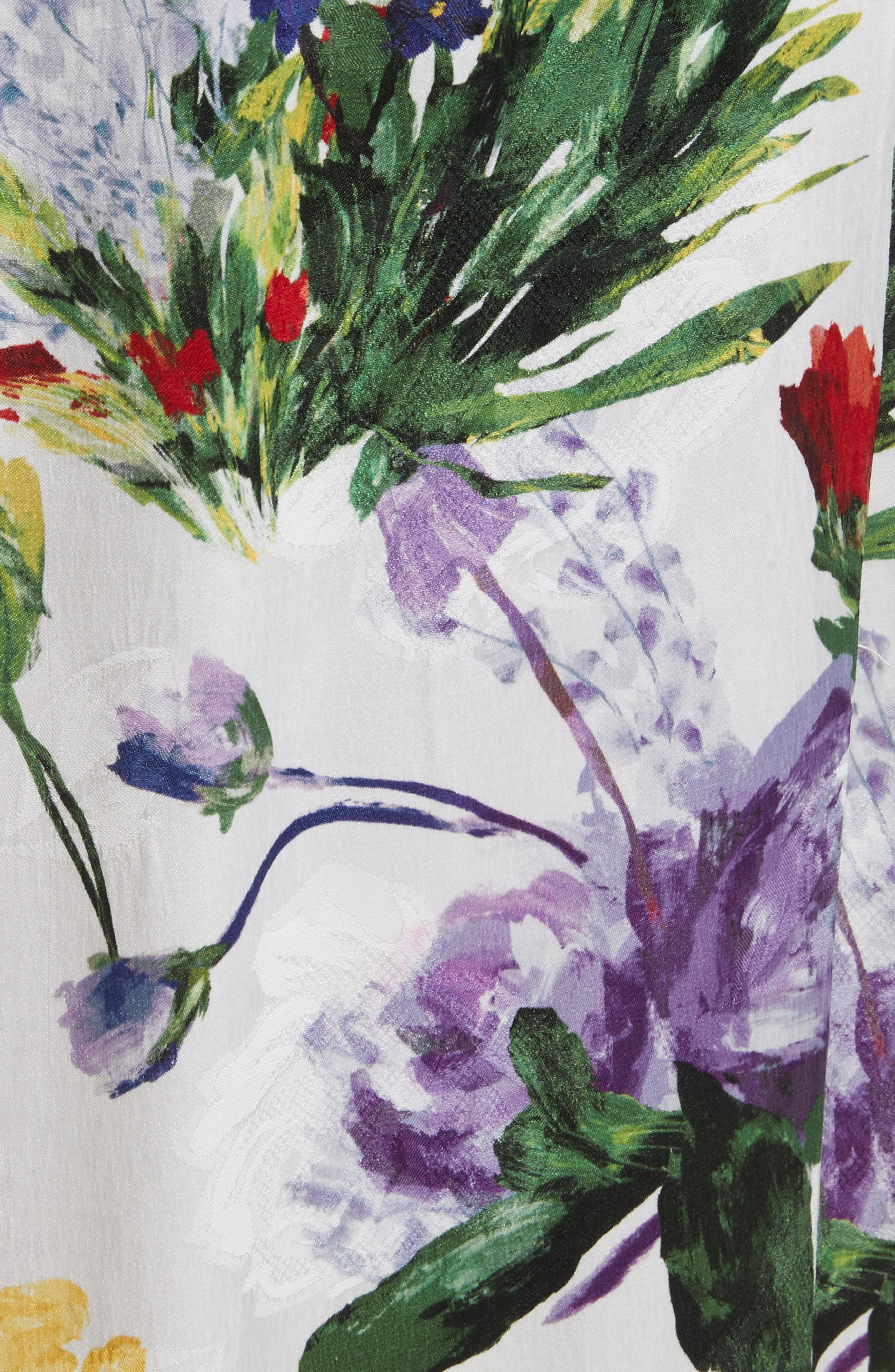 Clarine Floral Wrap Midi Dress,                             Alternate thumbnail 5, color,                             176