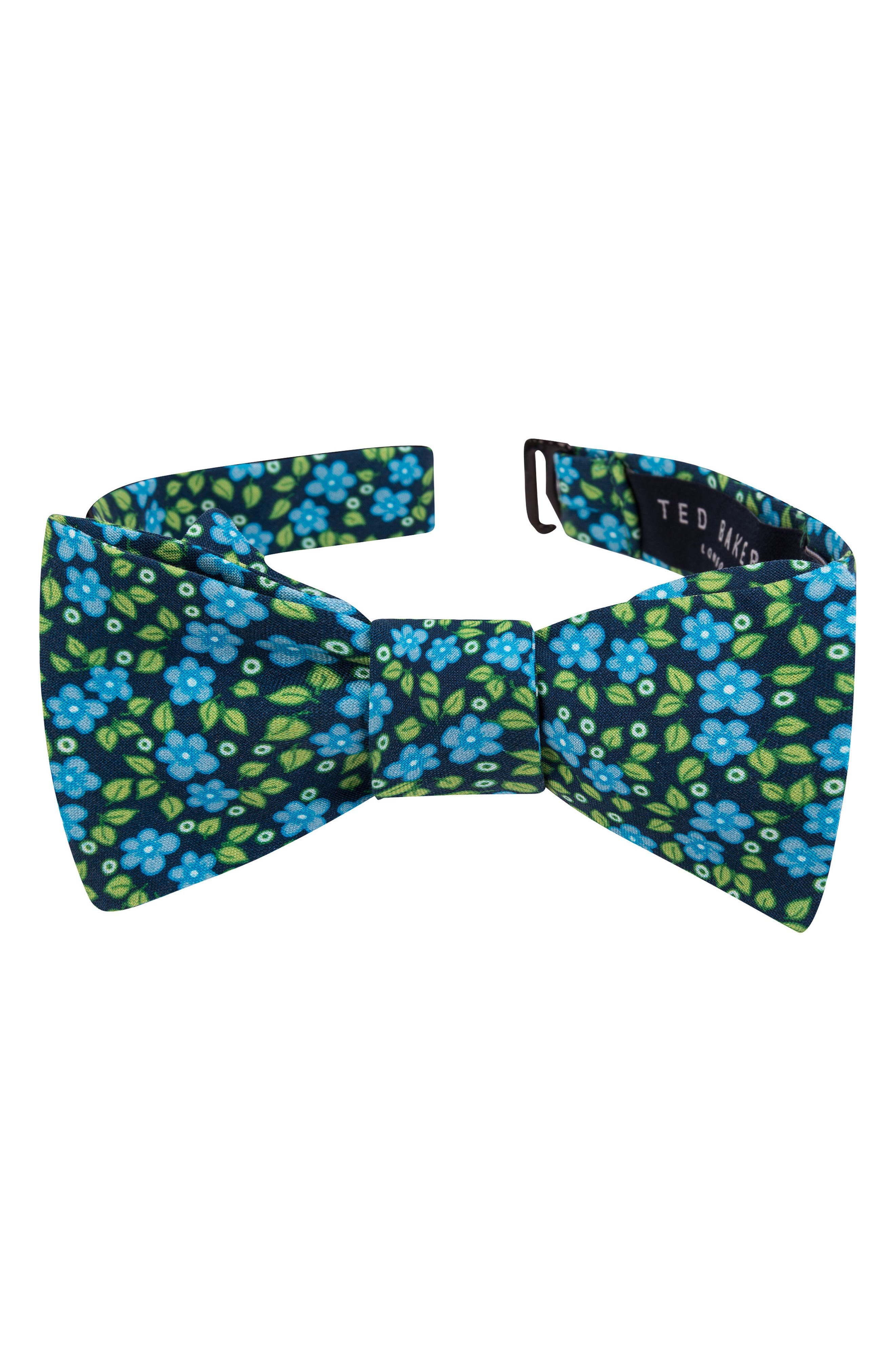 Carnaby Floral Silk Bow Tie,                         Main,                         color, 300
