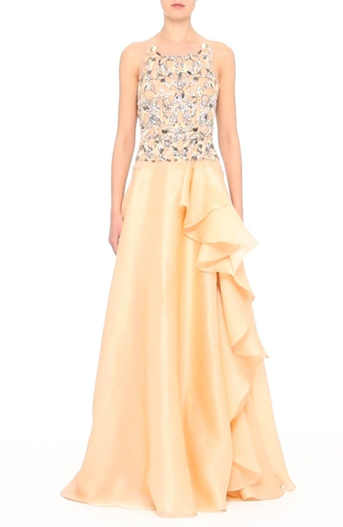 Badgley Mischka Couture Beaded Top,                             Alternate thumbnail 7, color,                             681