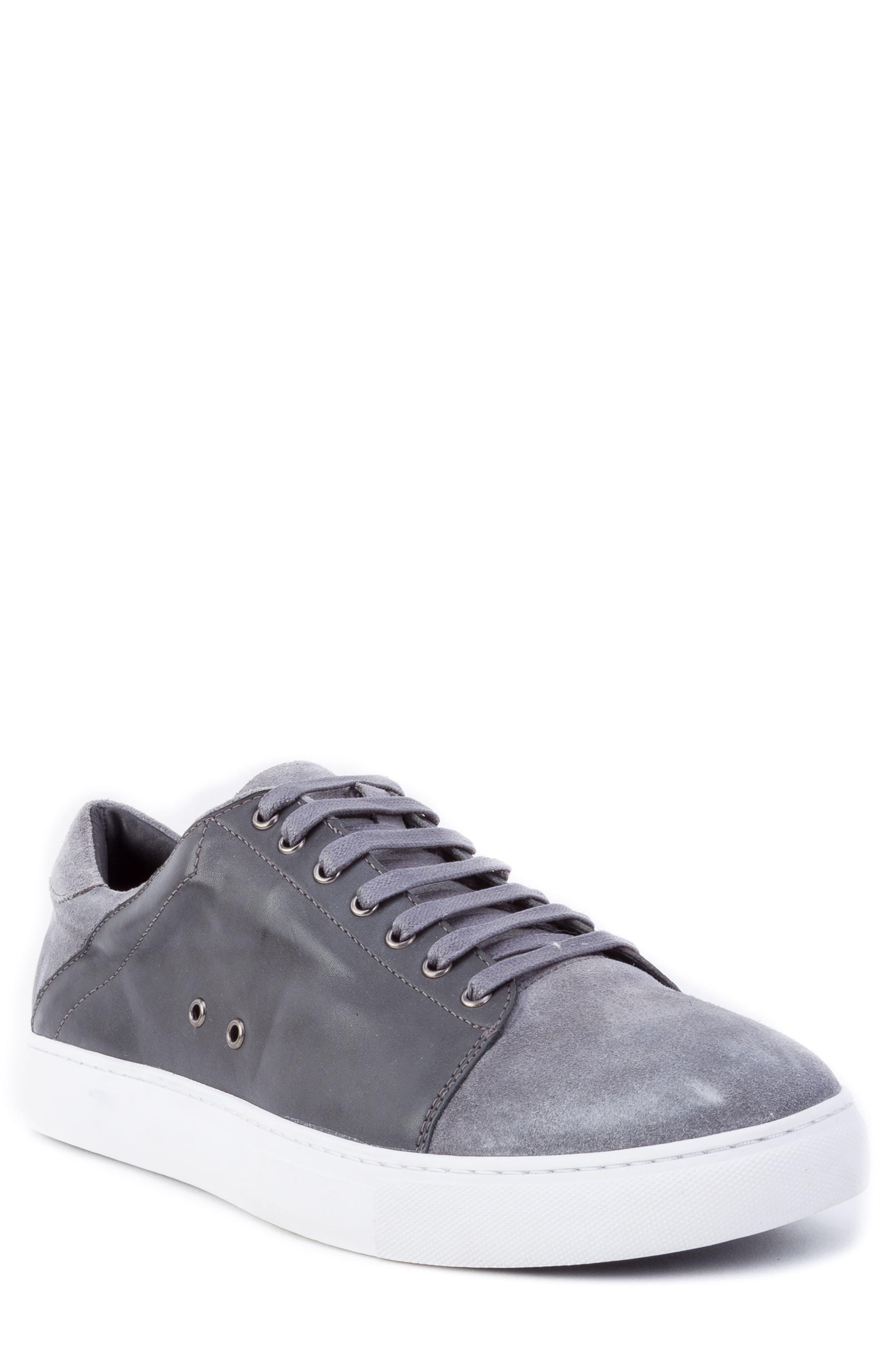 Zanzara Record Low Top Sneaker, Grey