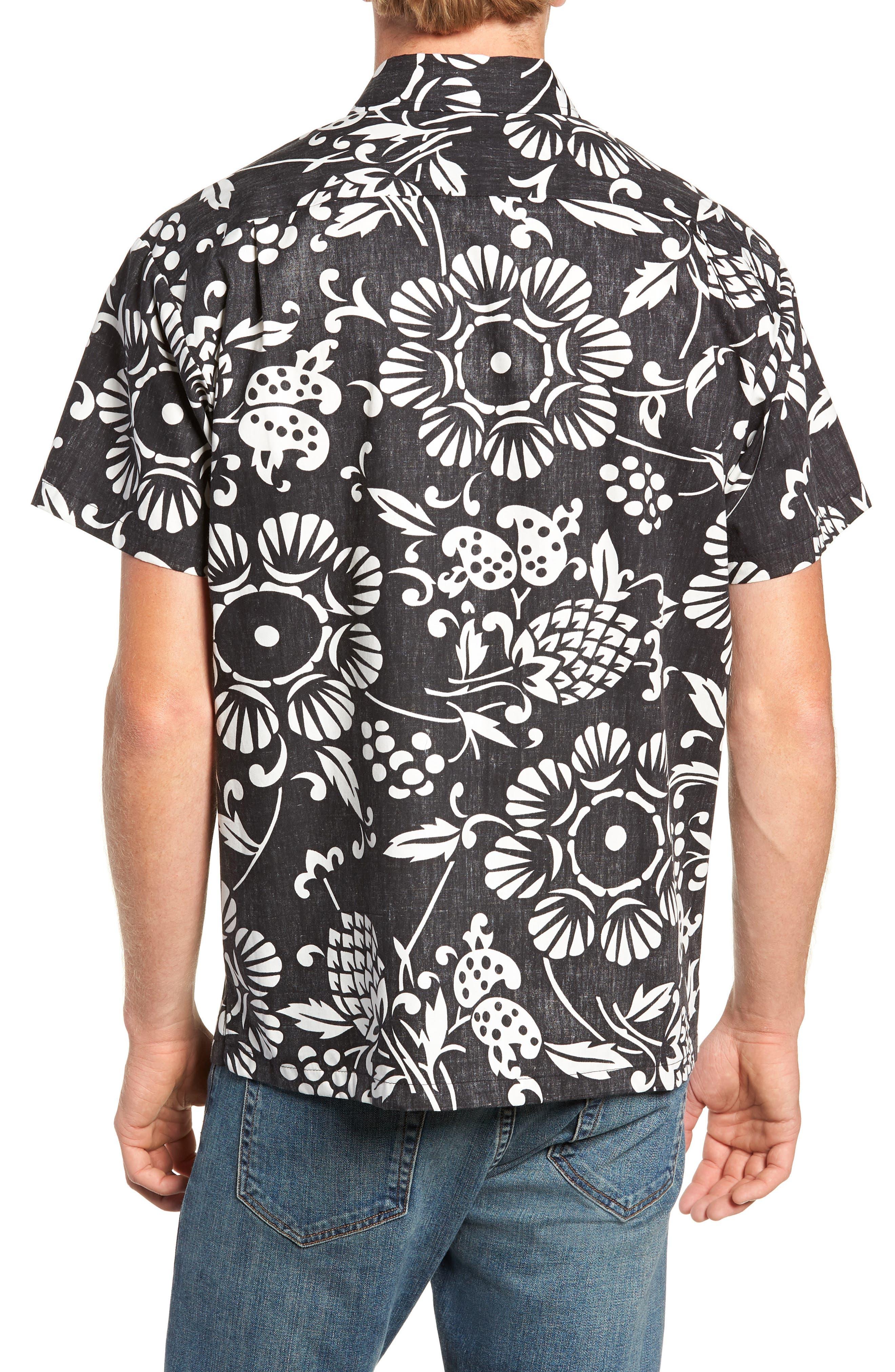 Duke's Pareo Trim Fit Sport Shirt,                             Alternate thumbnail 3, color,                             001