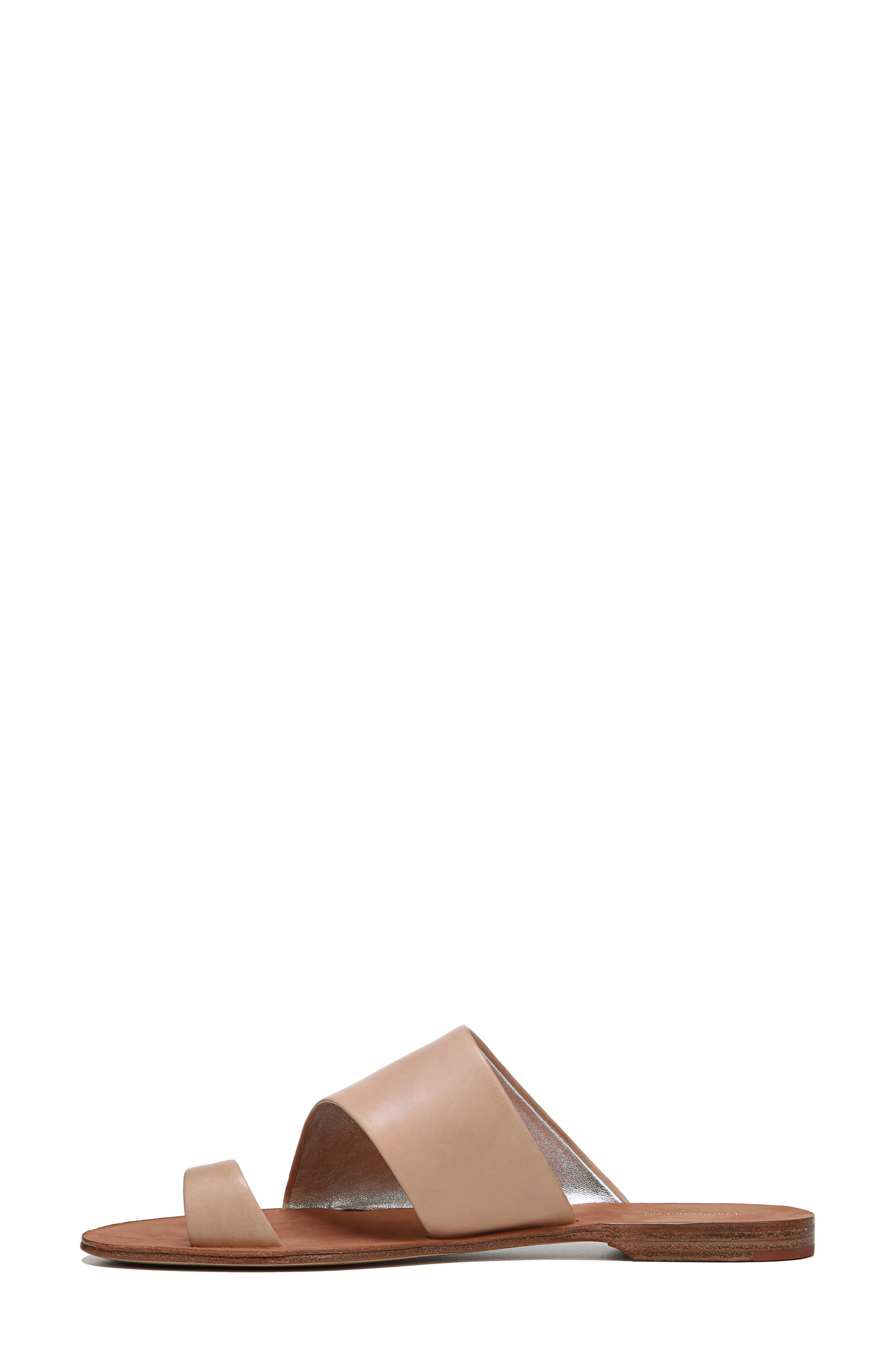 Brittany Asymmetrical Flat Sandal,                             Alternate thumbnail 3, color,                             202