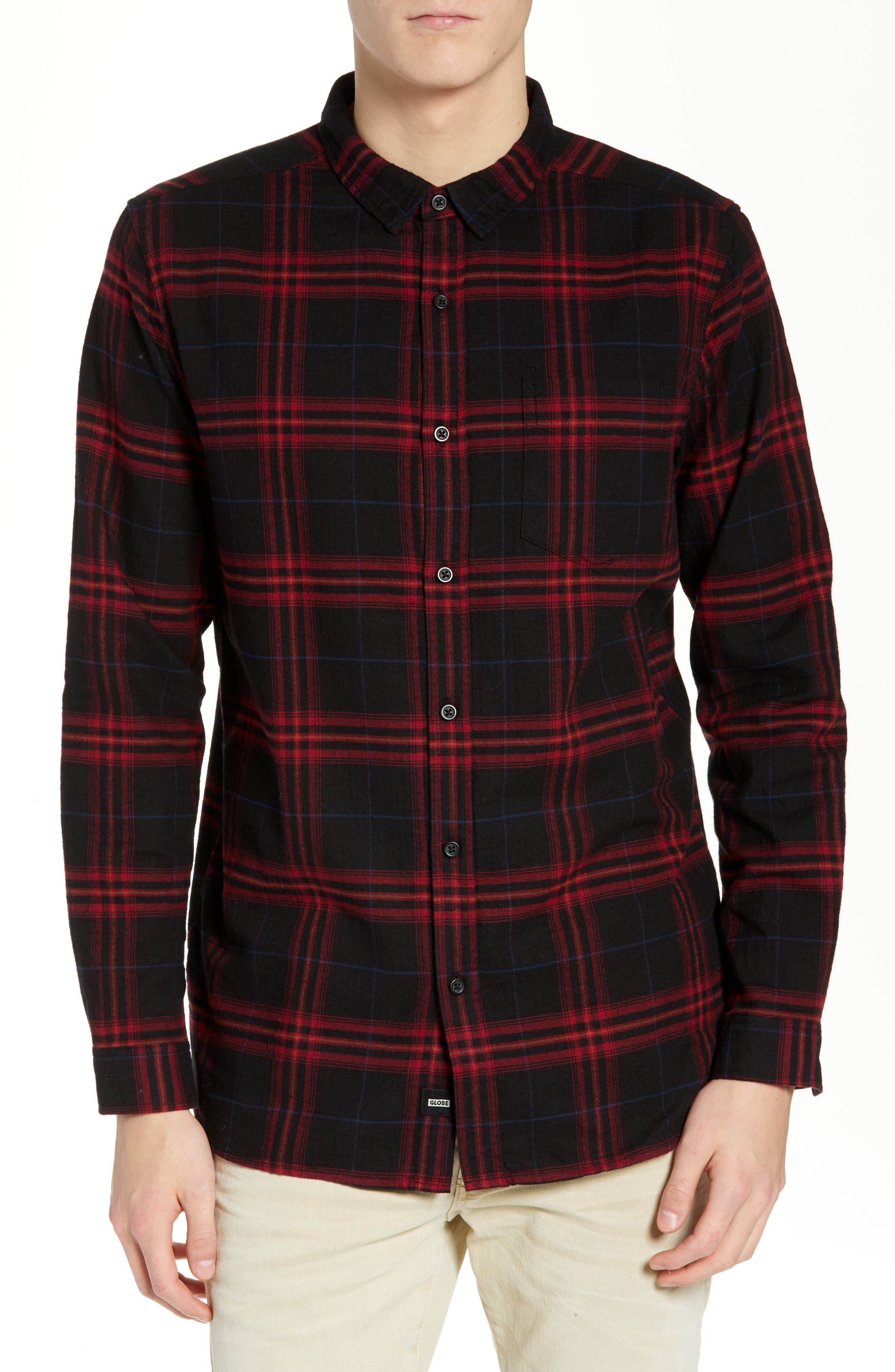 GLOBE Dock Plaid Shirt in Red
