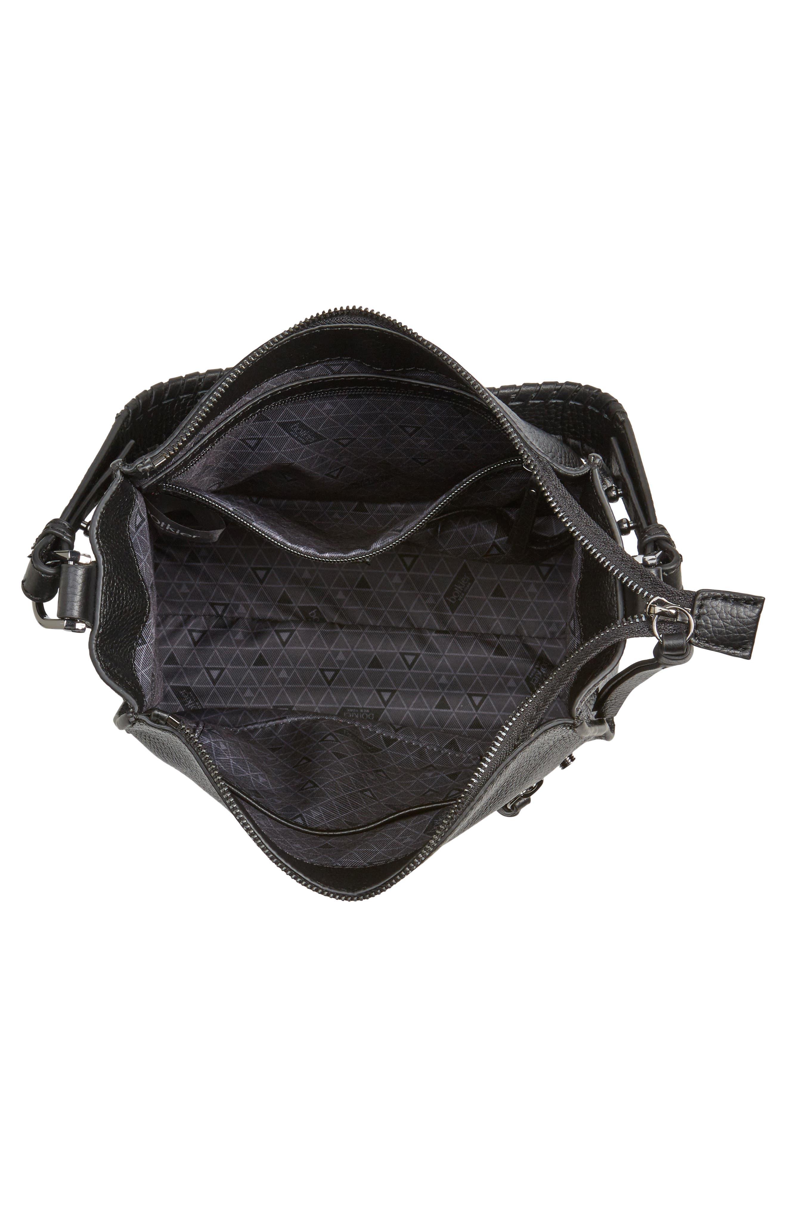 Small Paloma Leather Hobo,                             Alternate thumbnail 4, color,                             001