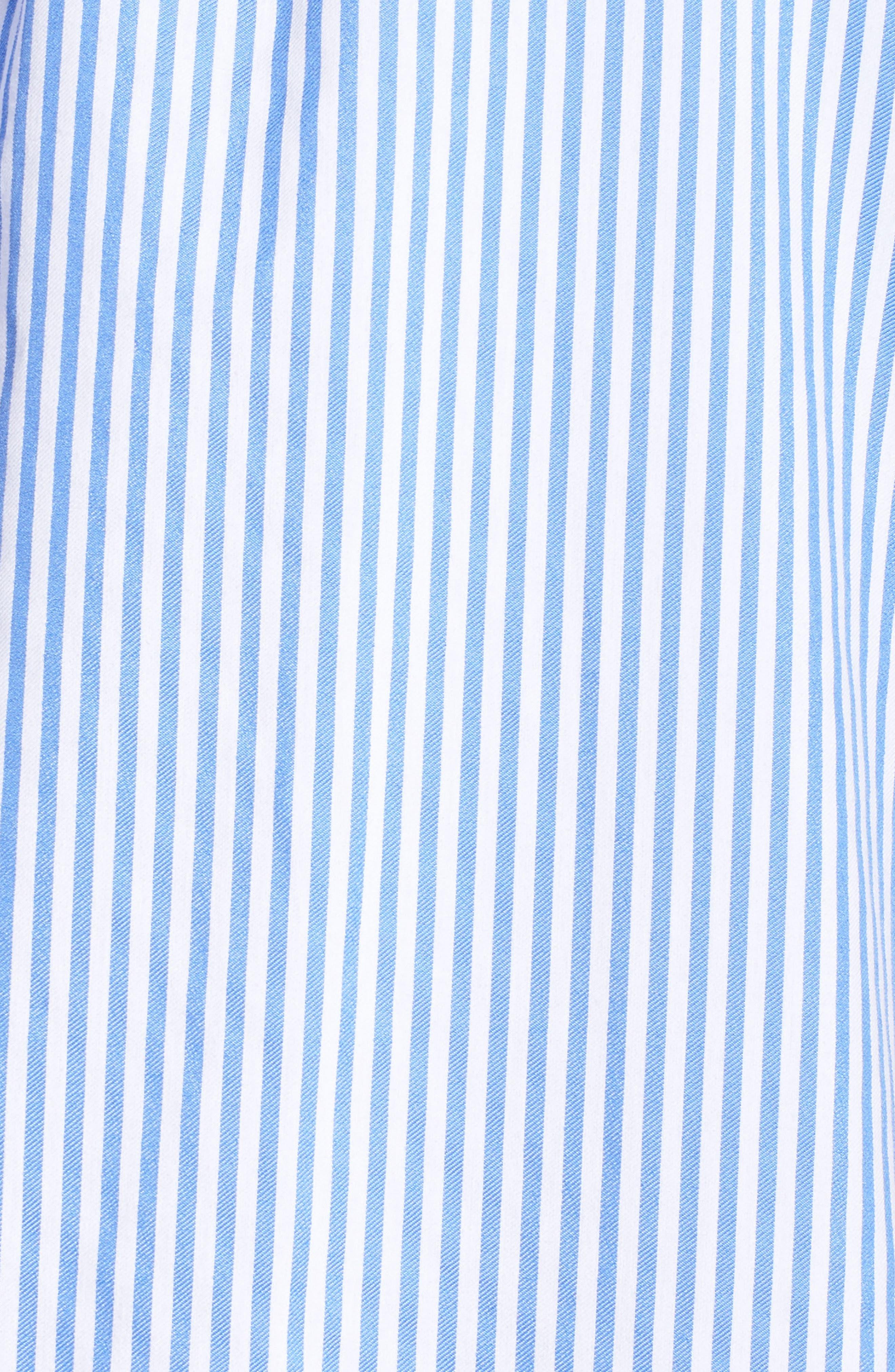 Stripe Cold Shoulder Shift Dress,                             Alternate thumbnail 6, color,                             410