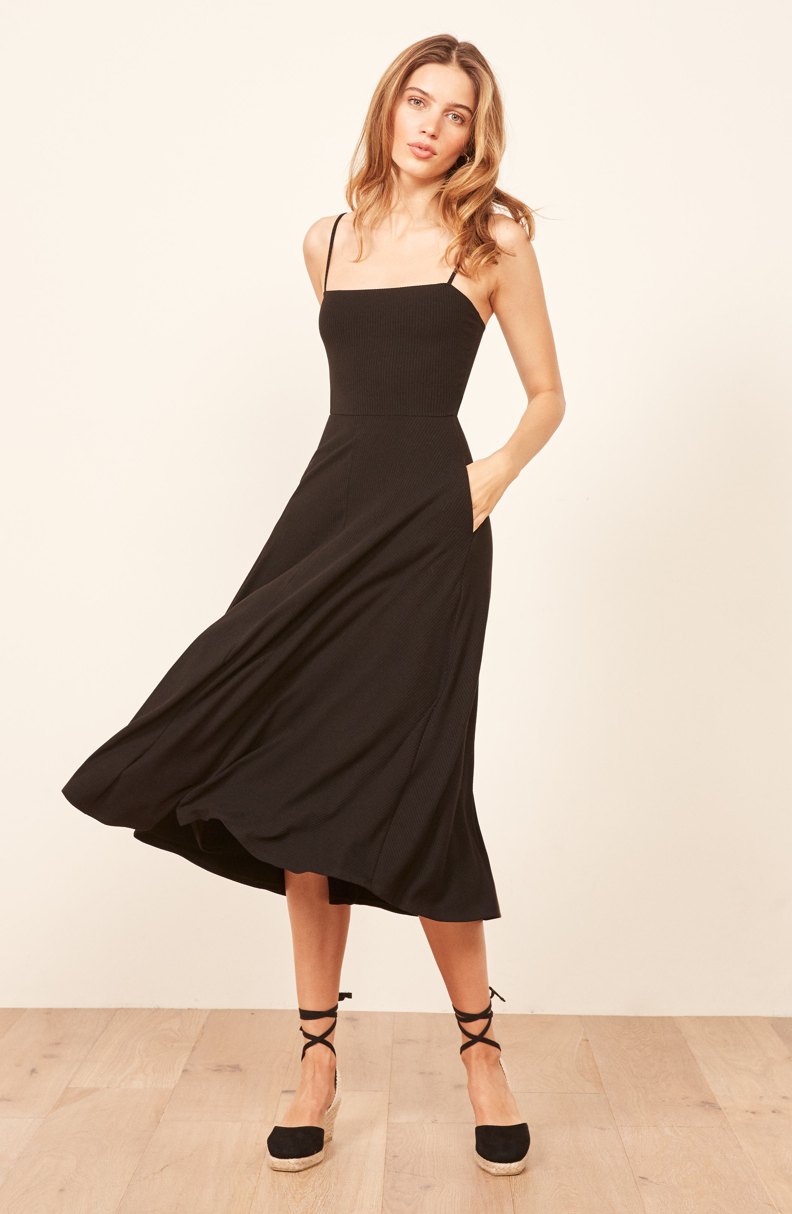 Bettie Dress,                             Alternate thumbnail 7, color,                             BLACK