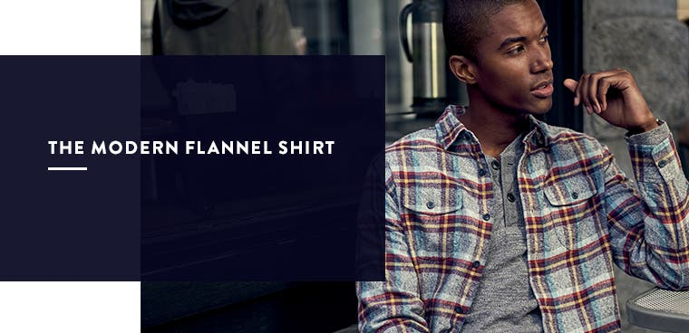 Men's modern flannel shirt.