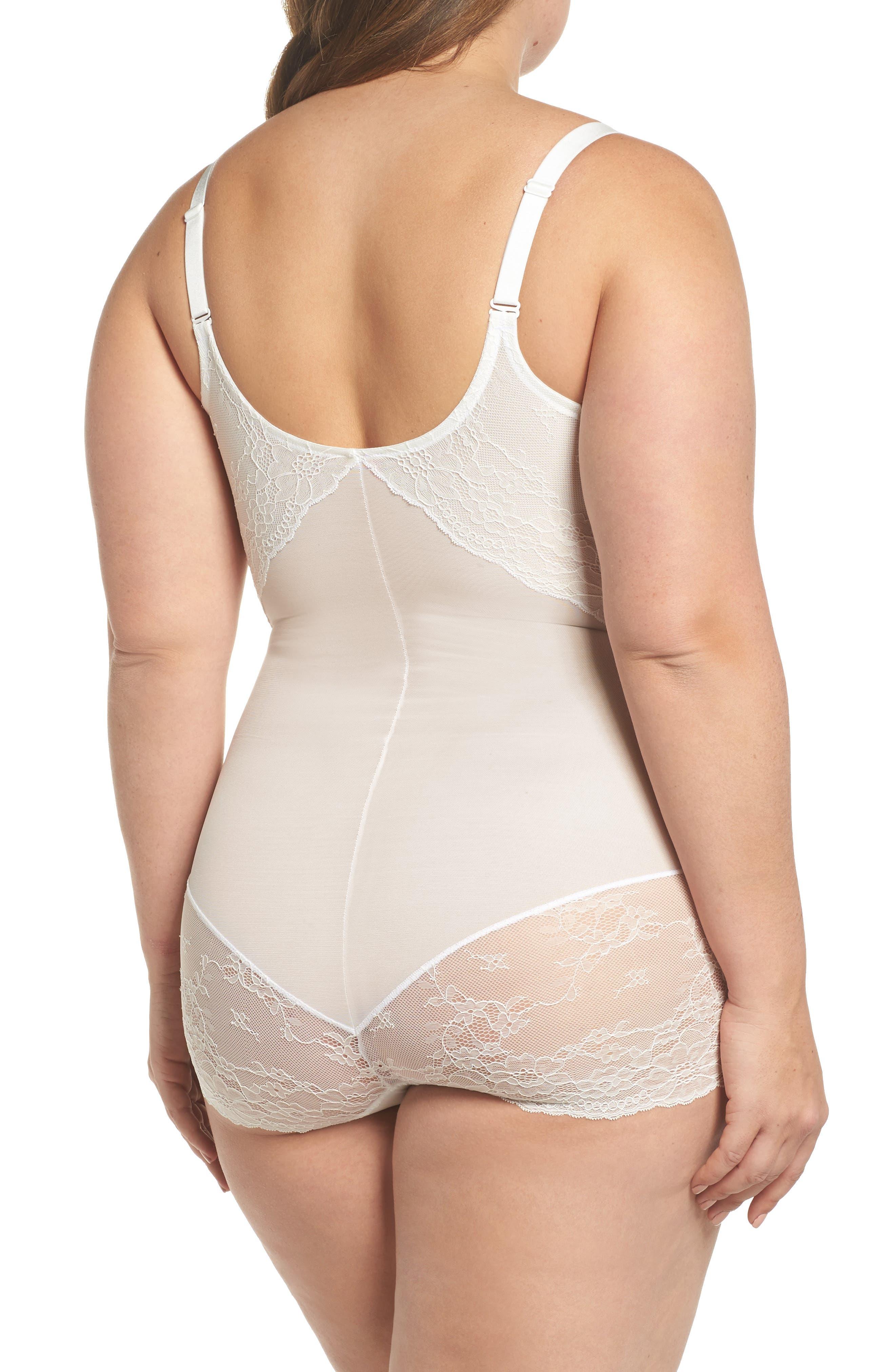 Spotlight On Lace Bodysuit,                             Alternate thumbnail 3, color,                             CLEAN WHITE