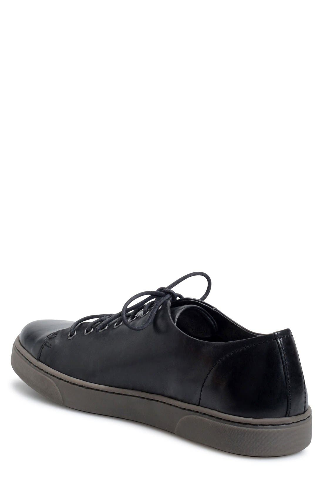 'Bayne' Cap Toe Sneaker,                             Alternate thumbnail 2, color,                             001