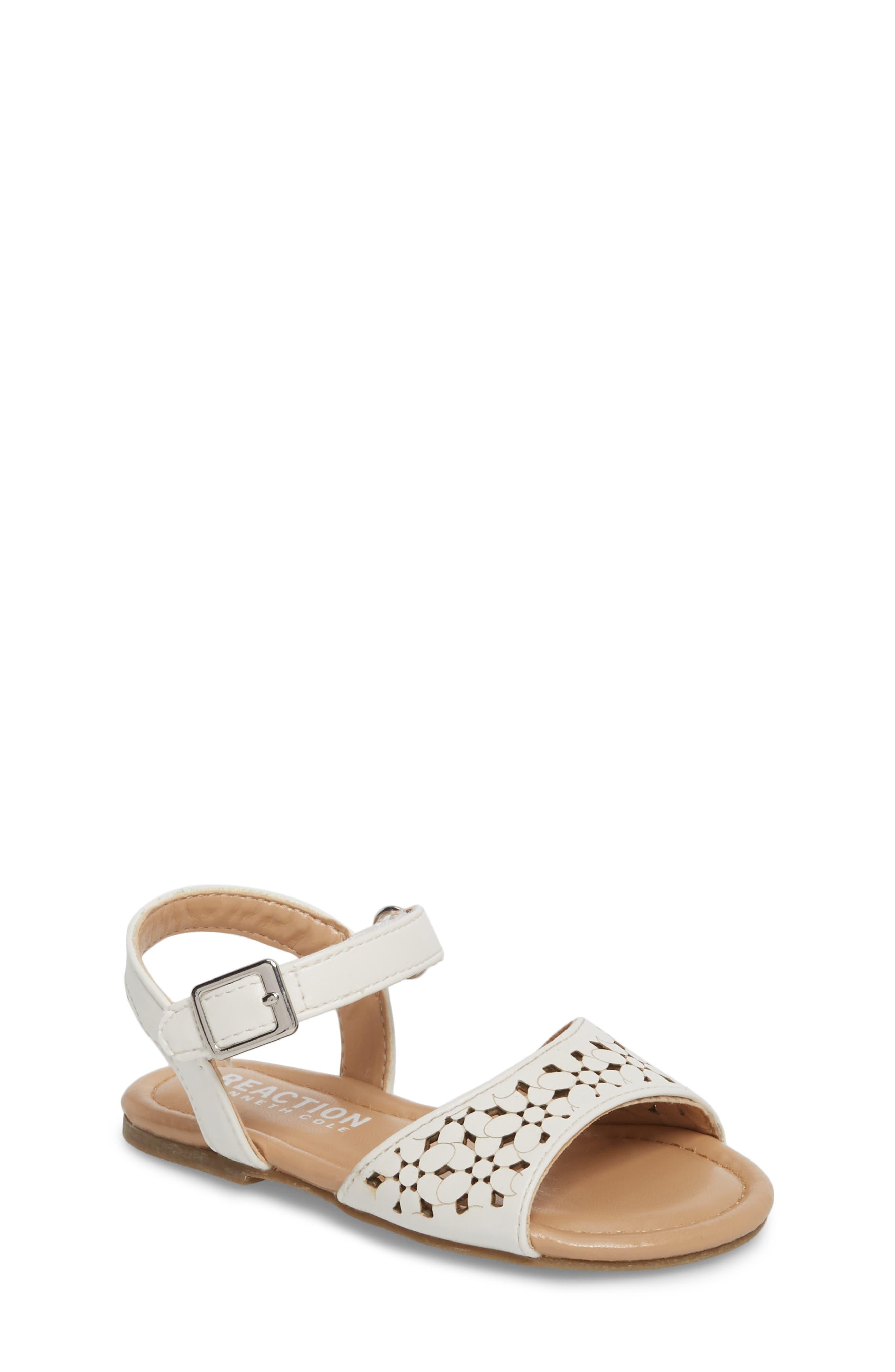 Kiera Perforated Sandal,                         Main,                         color, 100