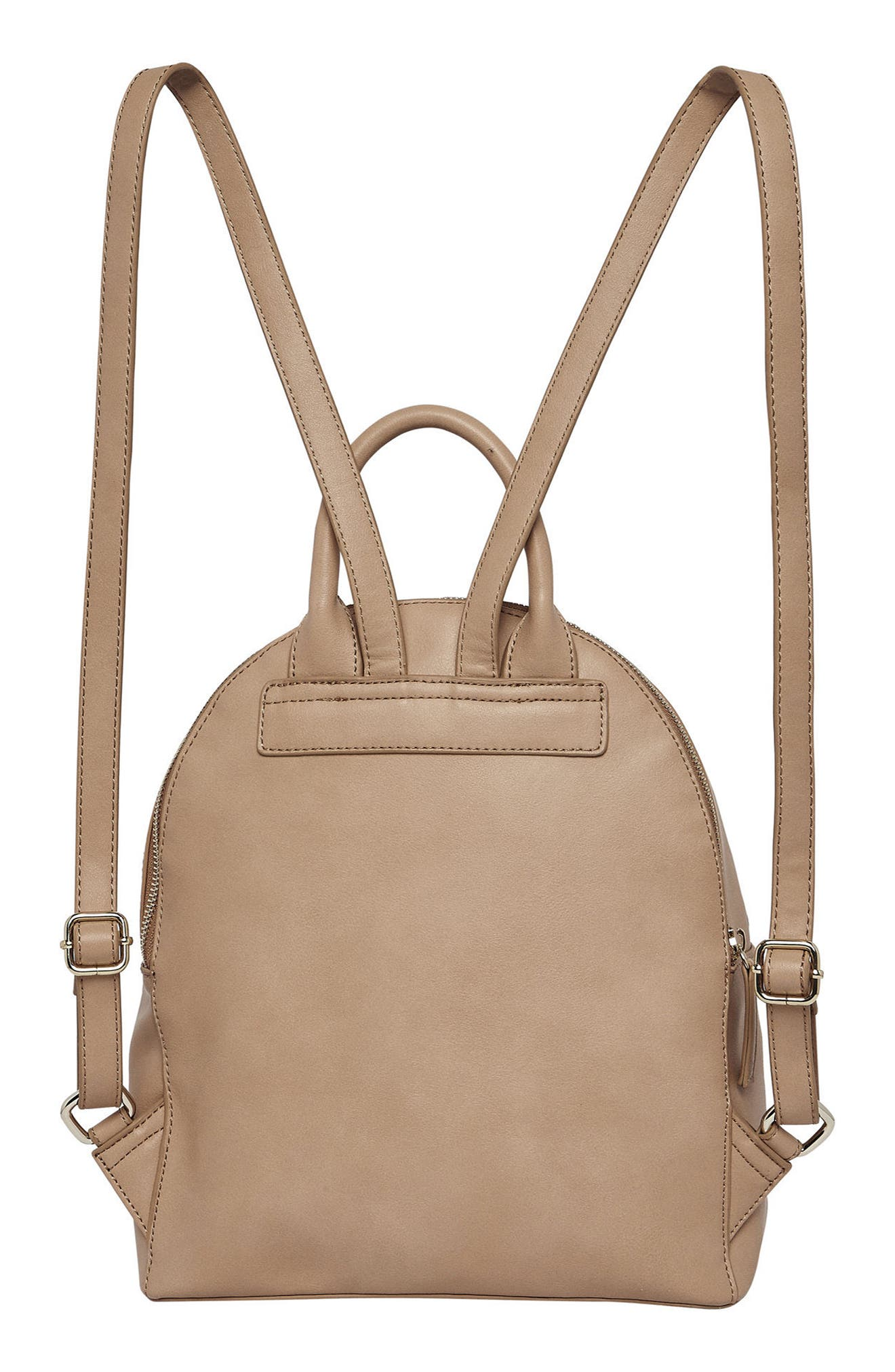 Magic Vegan Leather Backpack,                             Alternate thumbnail 3, color,                             CAMEL
