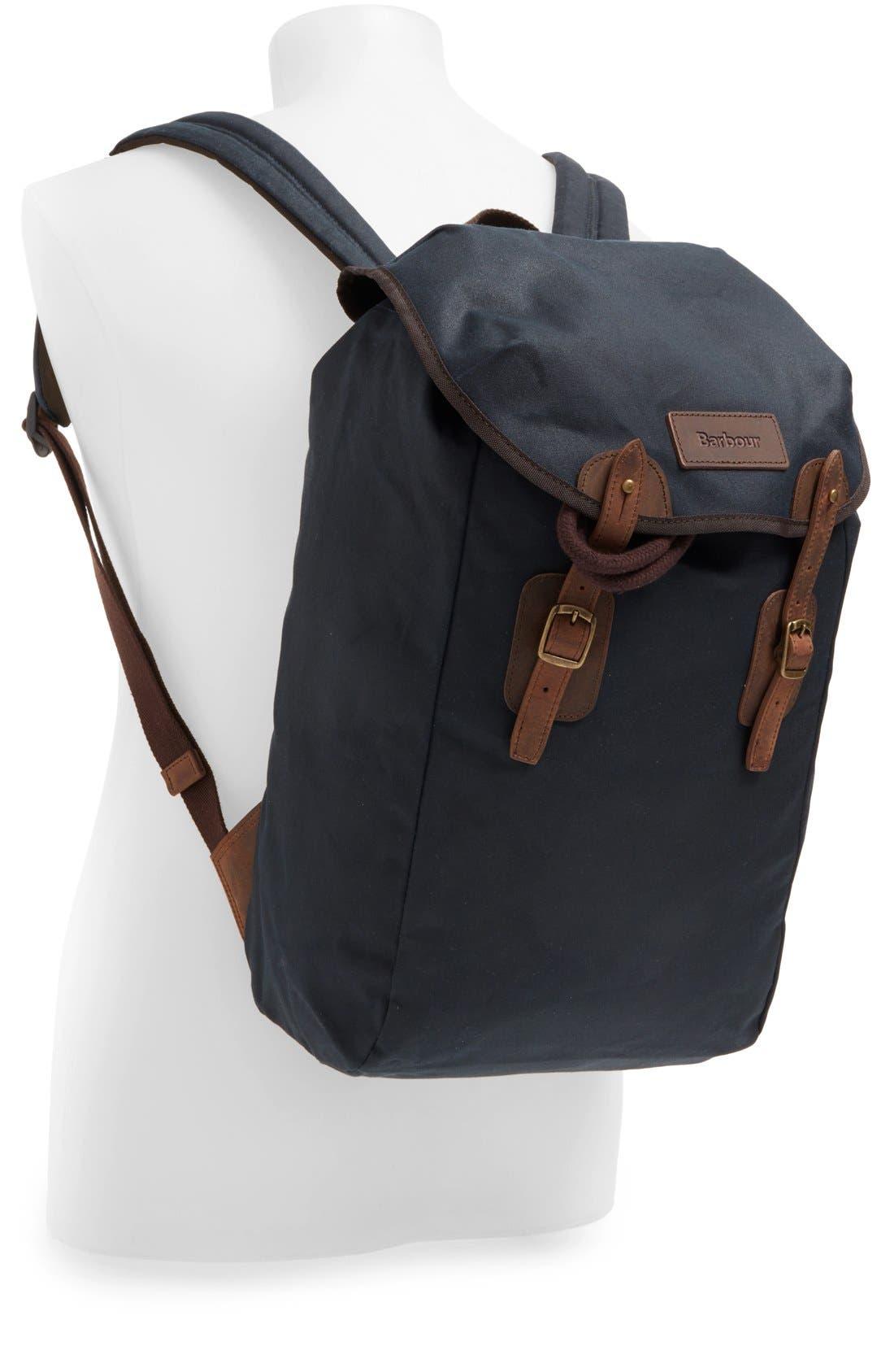 Waxed Canvas Backpack,                             Alternate thumbnail 4, color,