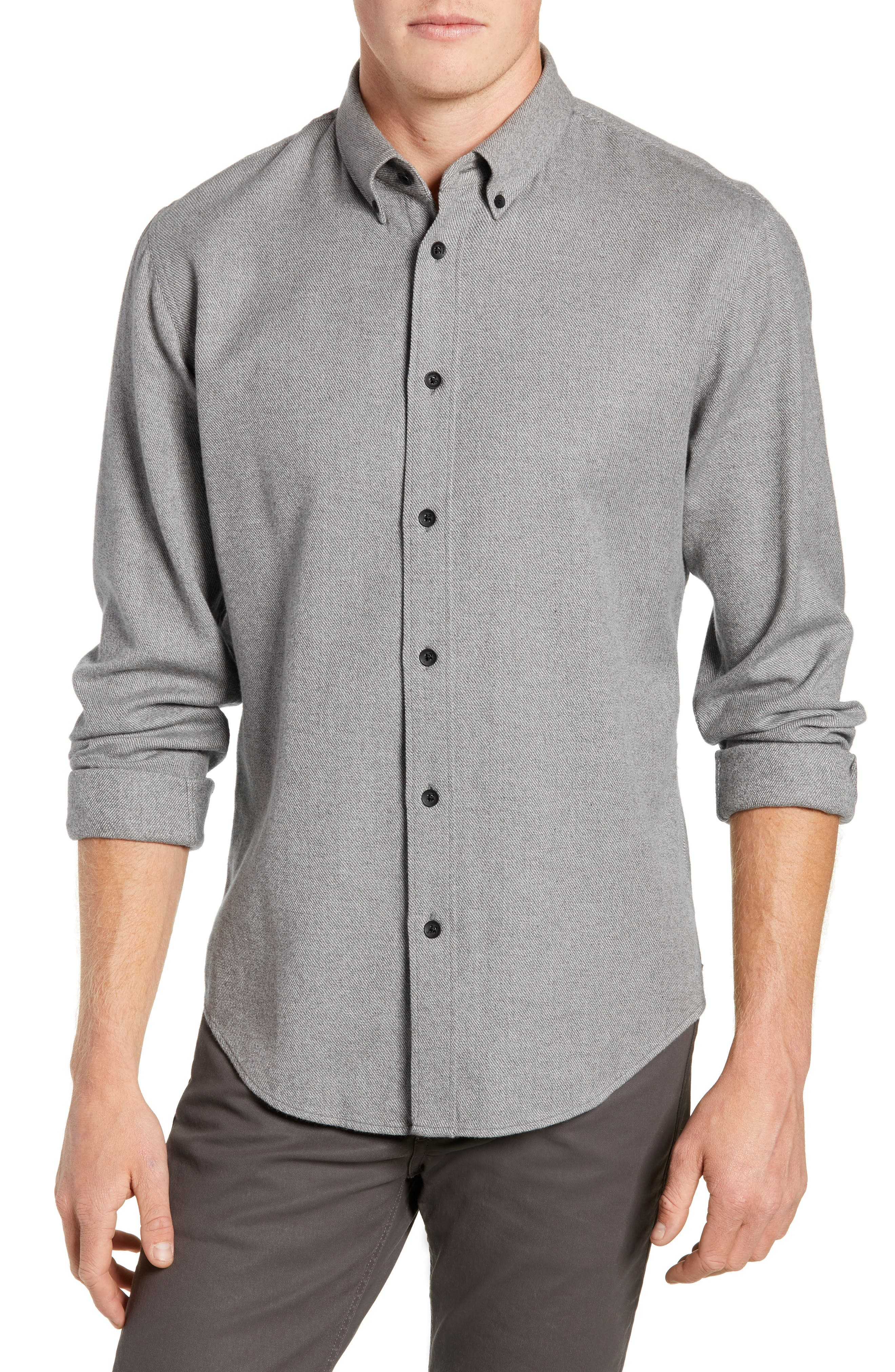 Fit 2 Tomlin Twill Sport Shirt,                         Main,                         color, GREY