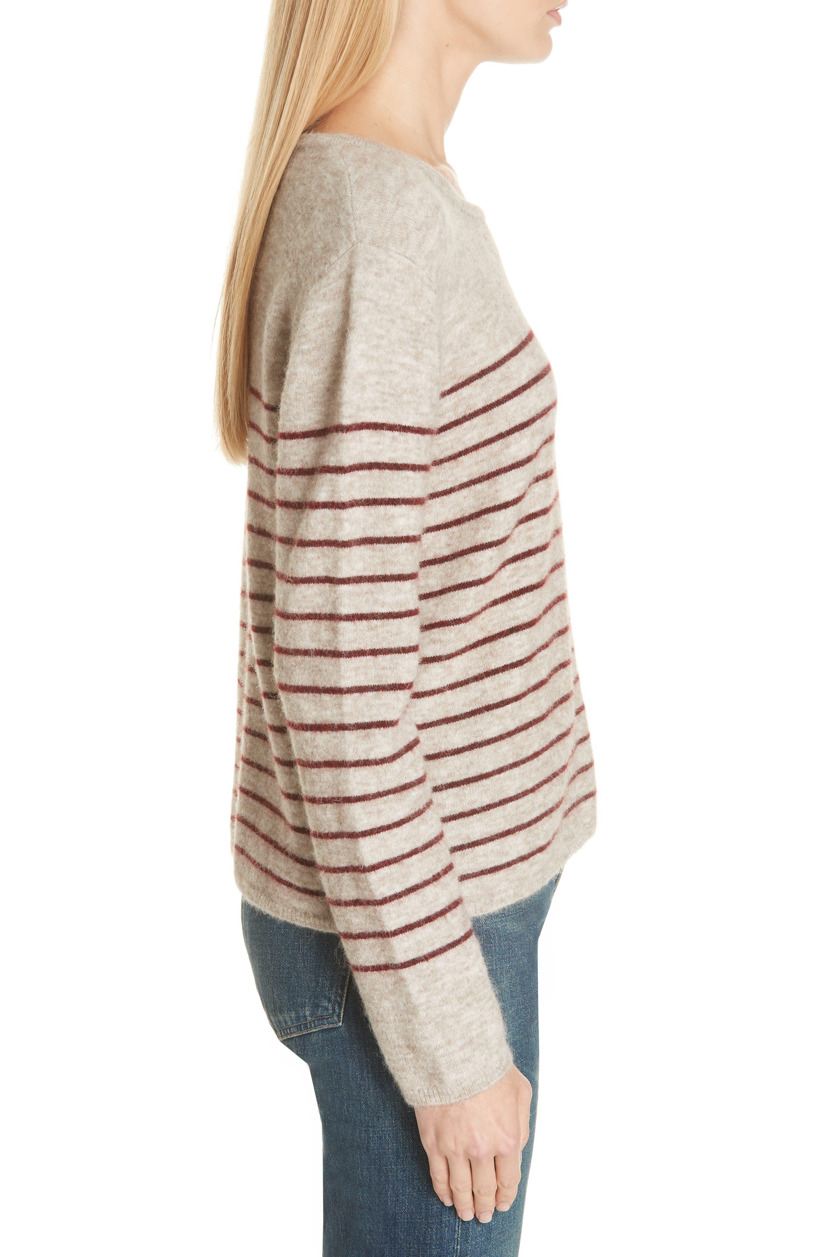 Artaud Stripe Sweater,                             Alternate thumbnail 3, color,                             BEIGE