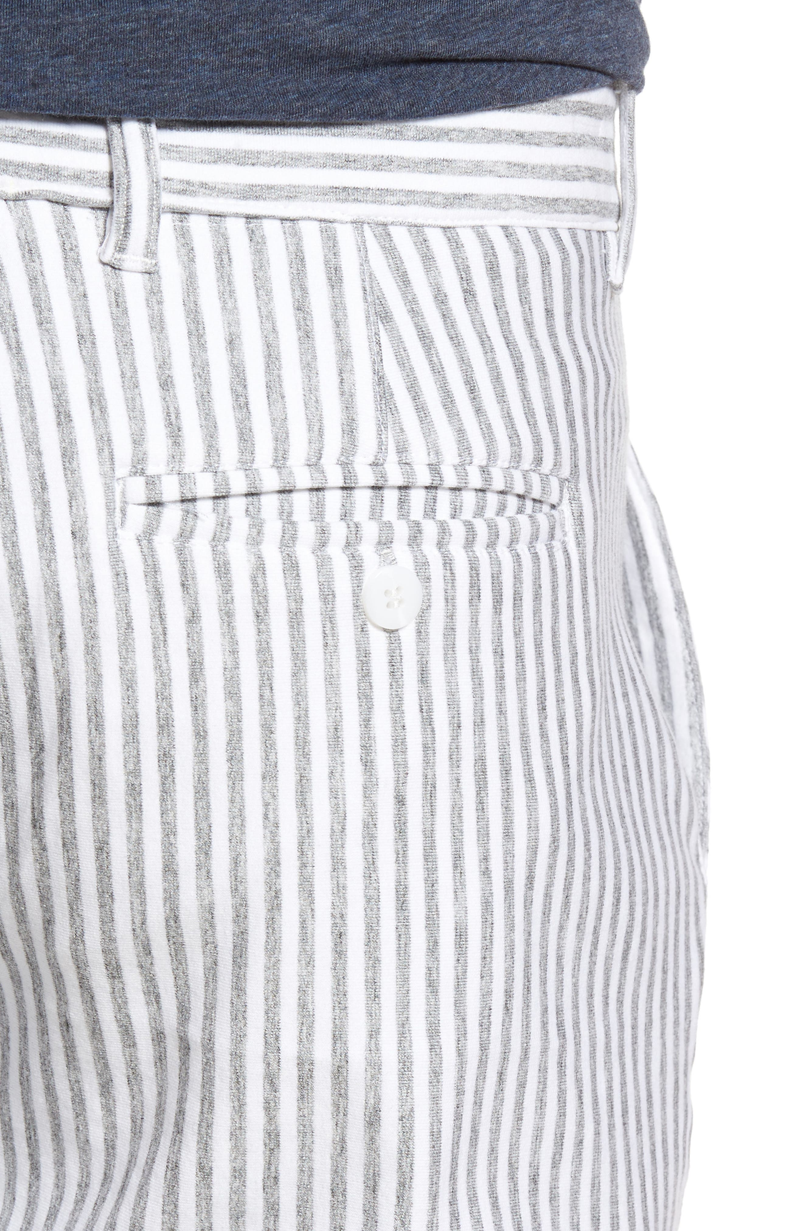 Stripe French Terry Shorts,                             Alternate thumbnail 4, color,