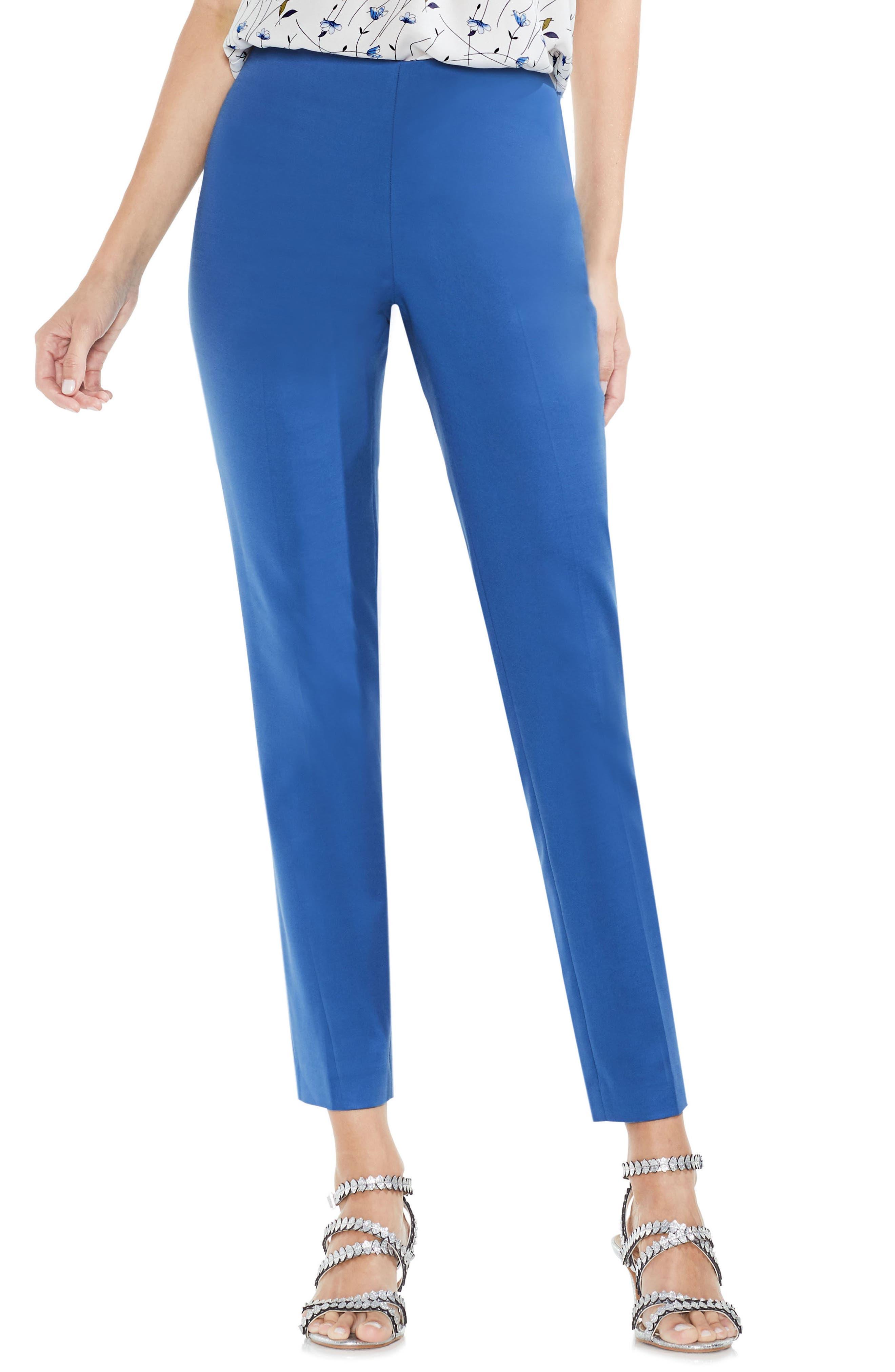 Side Zip Double Weave Pants,                             Main thumbnail 7, color,