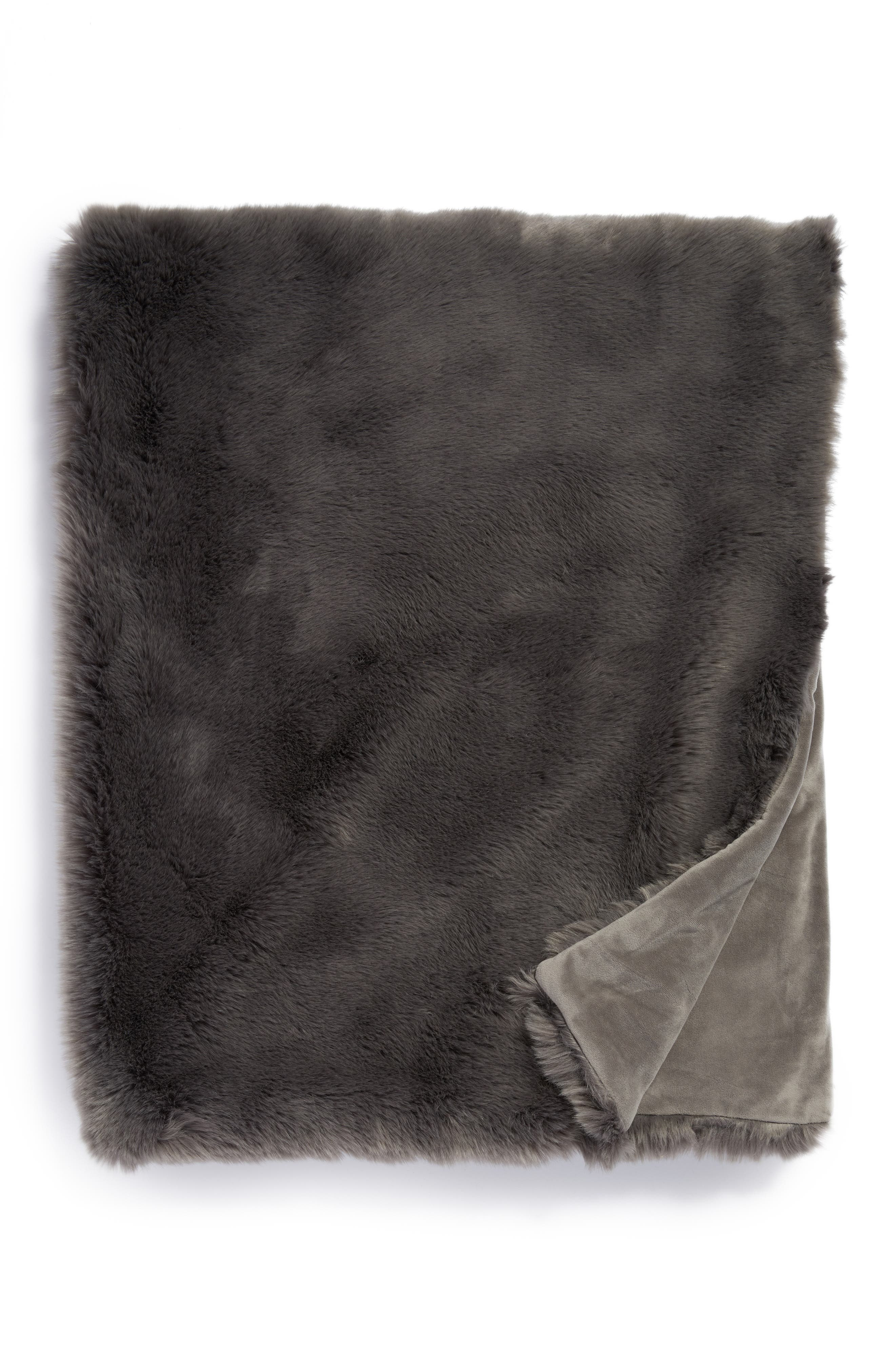 Cuddle Up Faux Fur Throw Blanket,                             Main thumbnail 9, color,