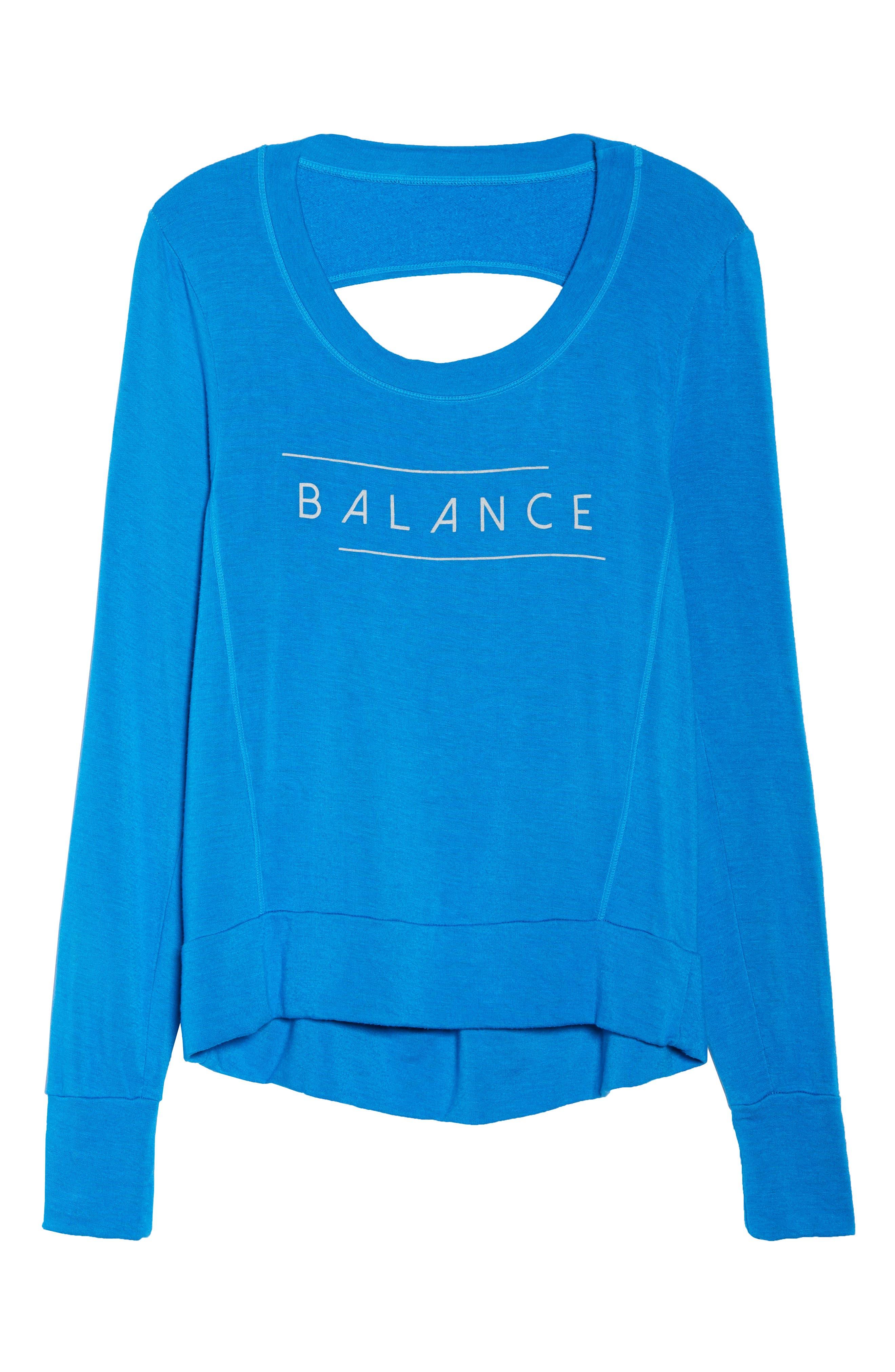 Jules Balance Sweatshirt,                             Alternate thumbnail 7, color,                             AZURE