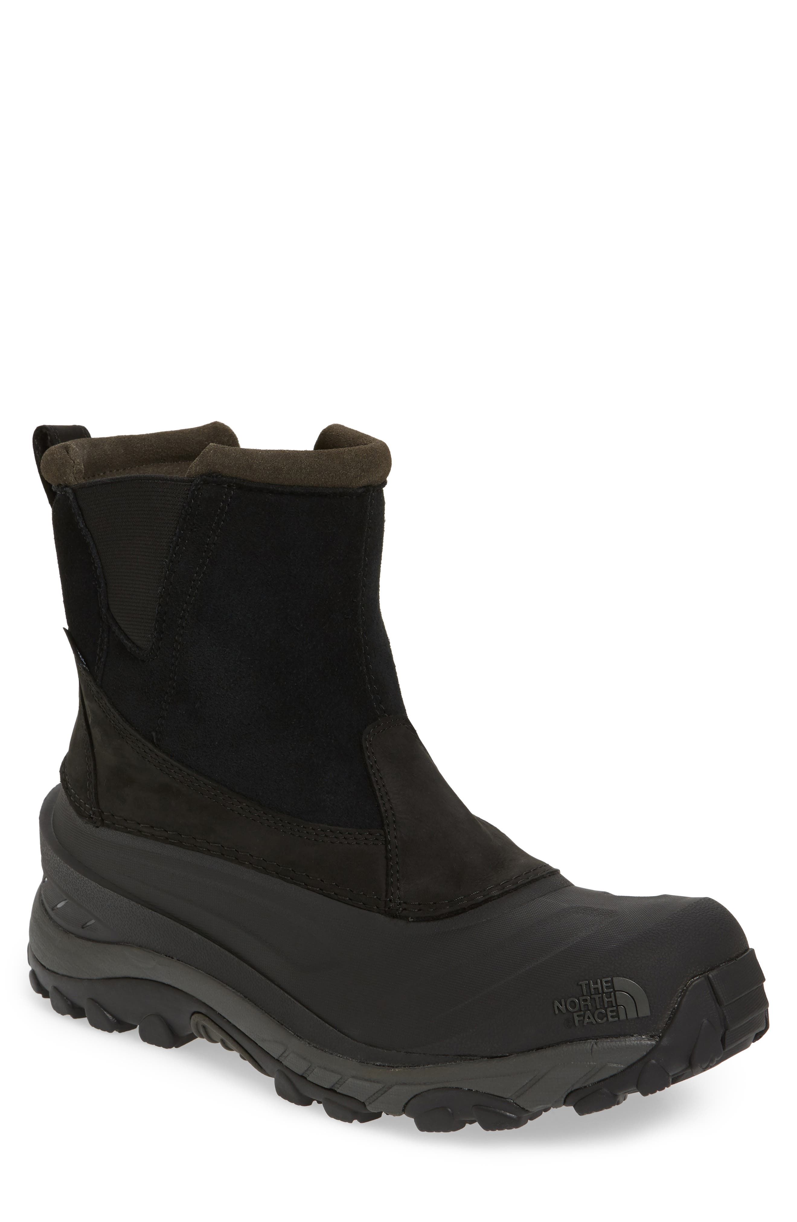 Chilkat III Waterproof Insulated Pull-On Boot,                         Main,                         color, TNF BLACK