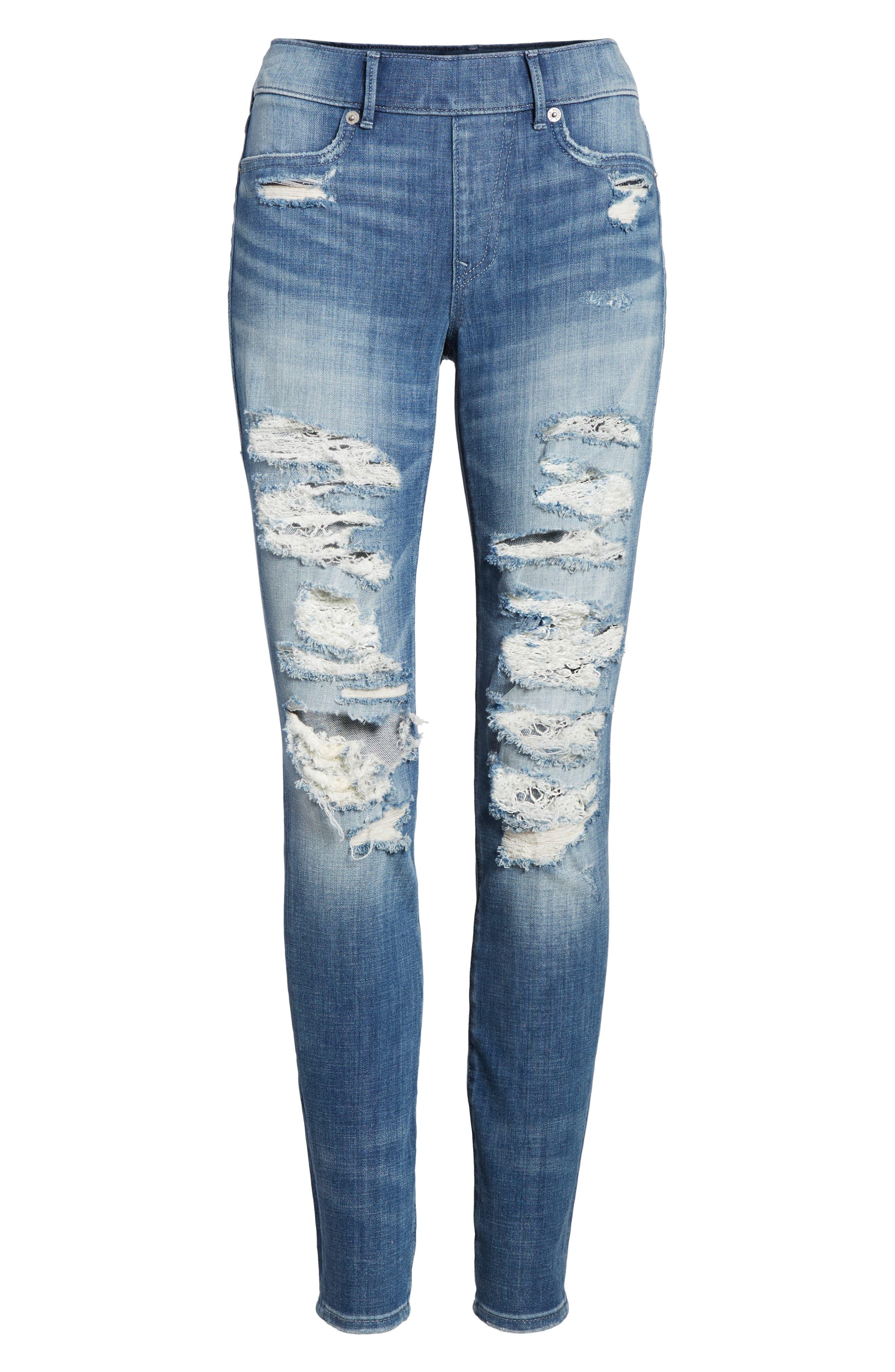 Jennie Runaway Legging Jeans,                             Alternate thumbnail 7, color,                             401