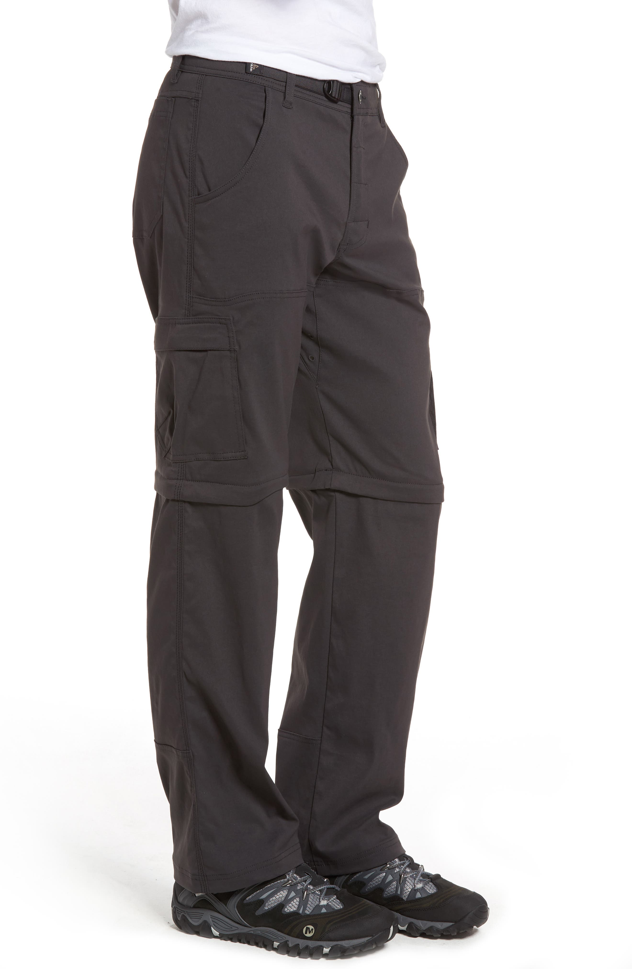 Zion Stretch Convertible Cargo Hiking Pants,                             Alternate thumbnail 3, color,                             010