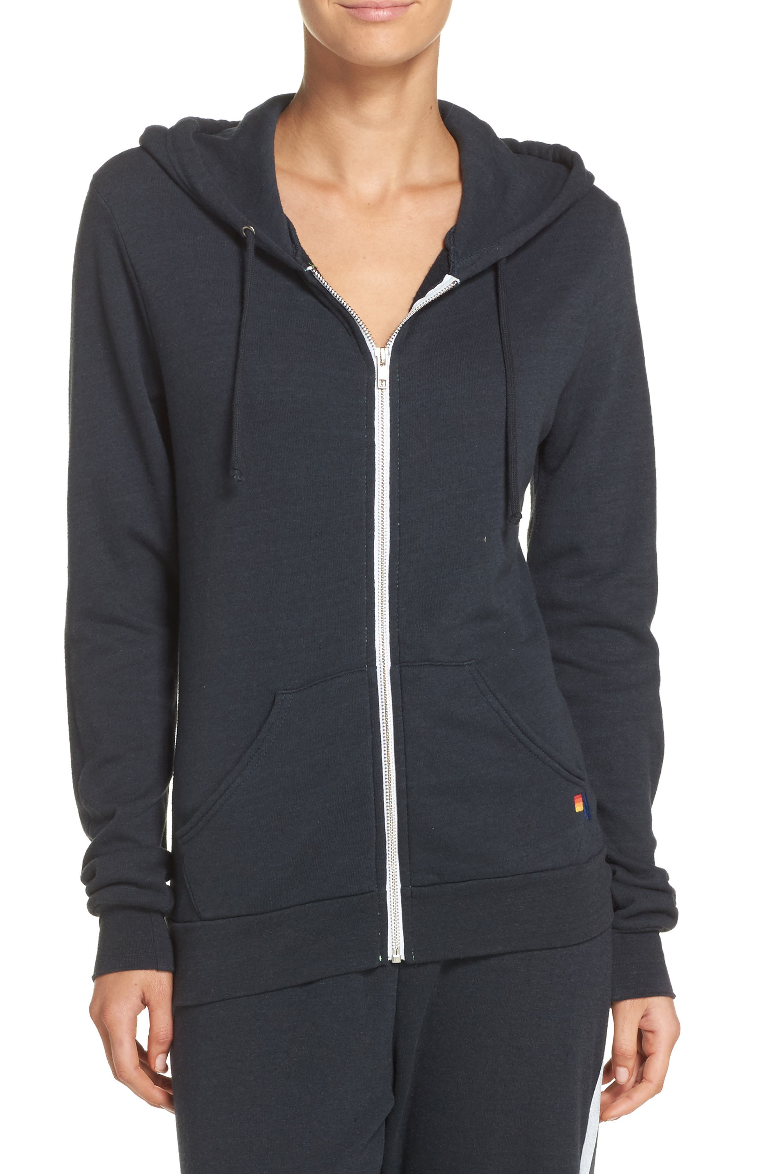 Bolt Zip Hoodie,                         Main,                         color, CHARCOAL