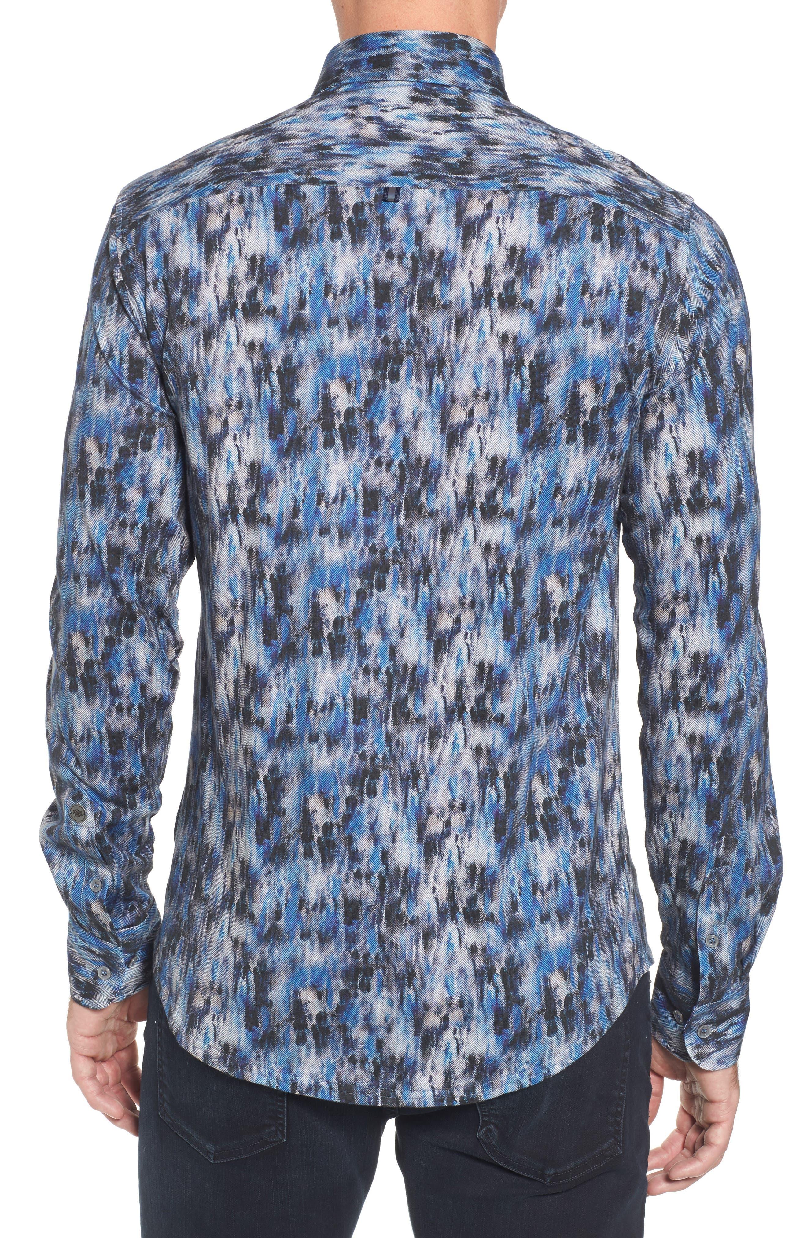 Slim Fit Herringbone FX Sport Shirt,                             Alternate thumbnail 2, color,                             430