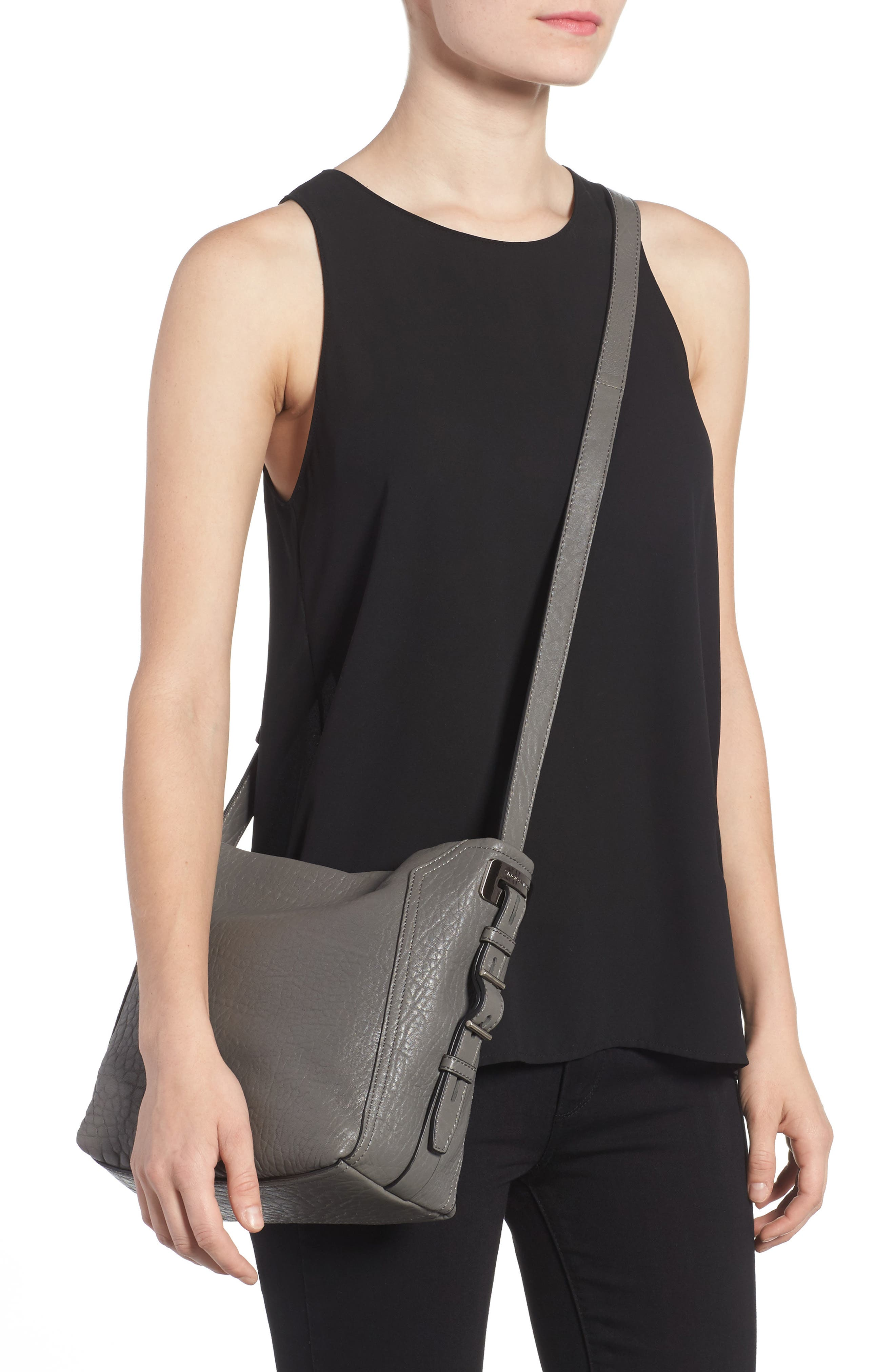 Fava Leather Bucket Bag,                             Alternate thumbnail 5, color,