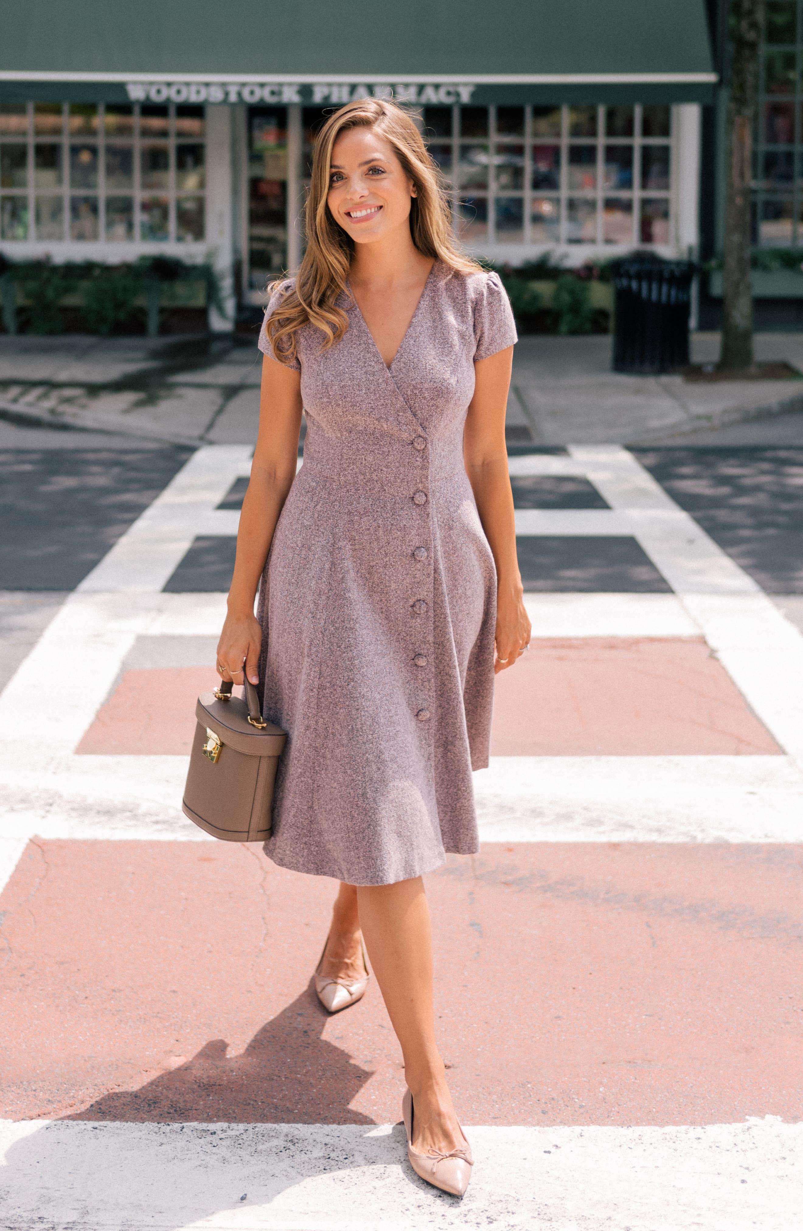 Agatha Dainty Tweed Dress,                             Alternate thumbnail 7, color,                             650