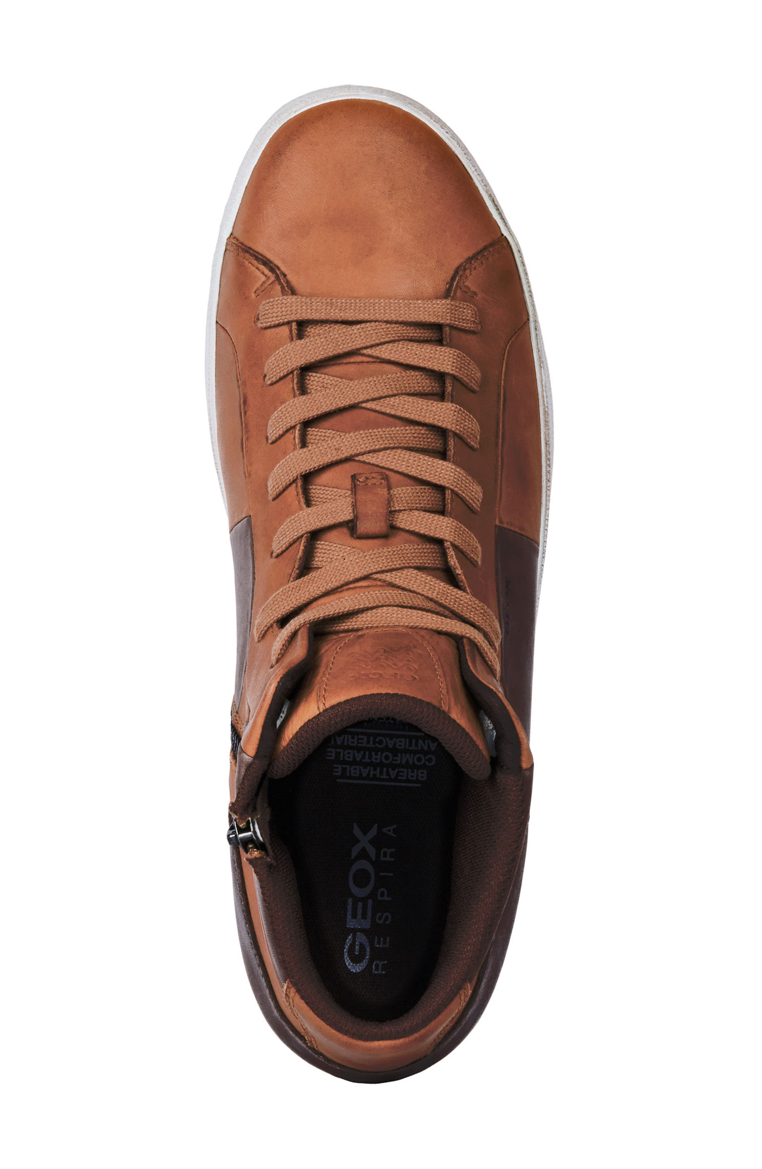 Smart 84 High Top Sneaker,                             Alternate thumbnail 5, color,                             COGNAC/ COFFEE LEATHER