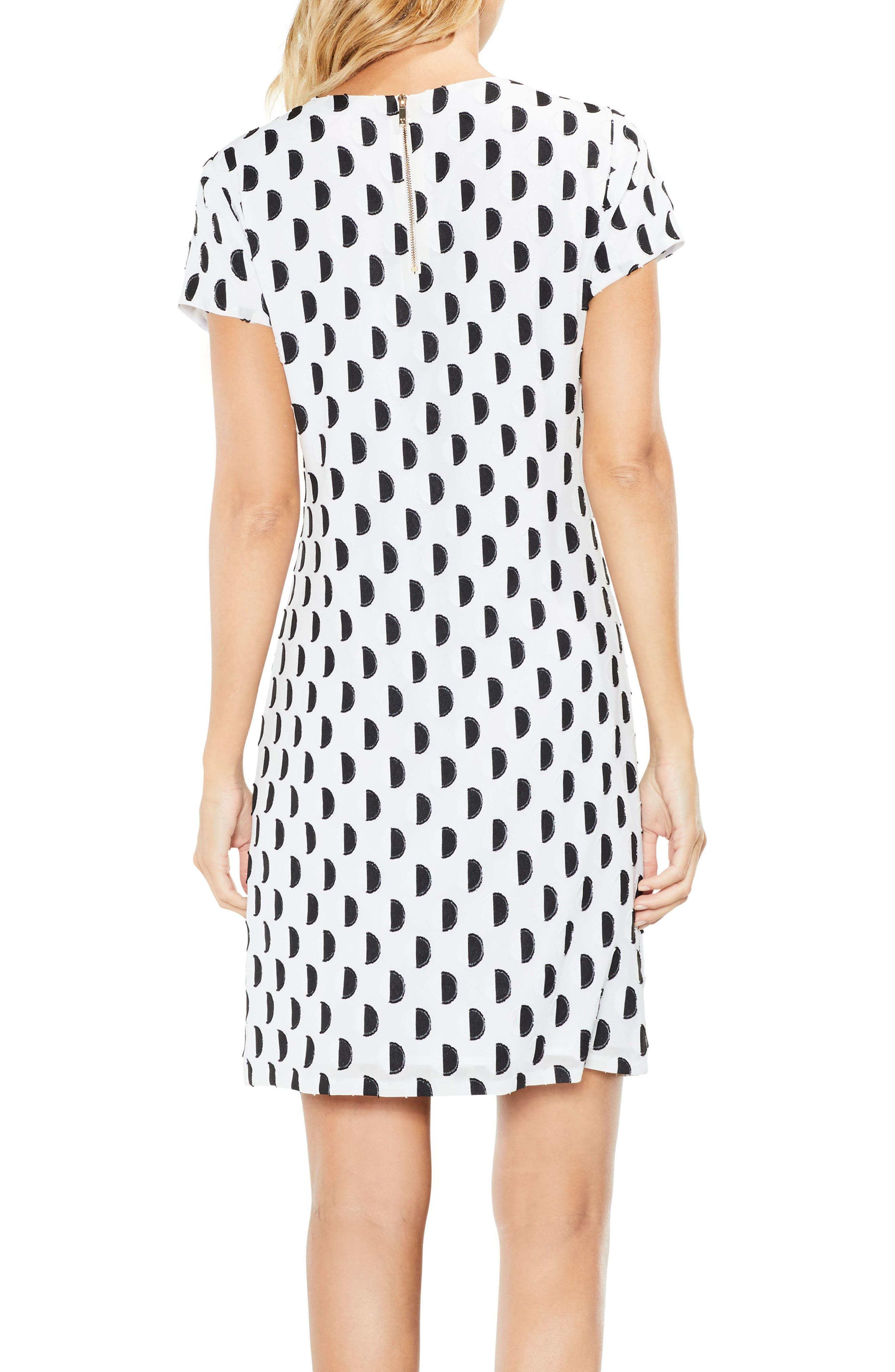 Graphic Clip Dot Shift Dress,                             Alternate thumbnail 2, color,                             103