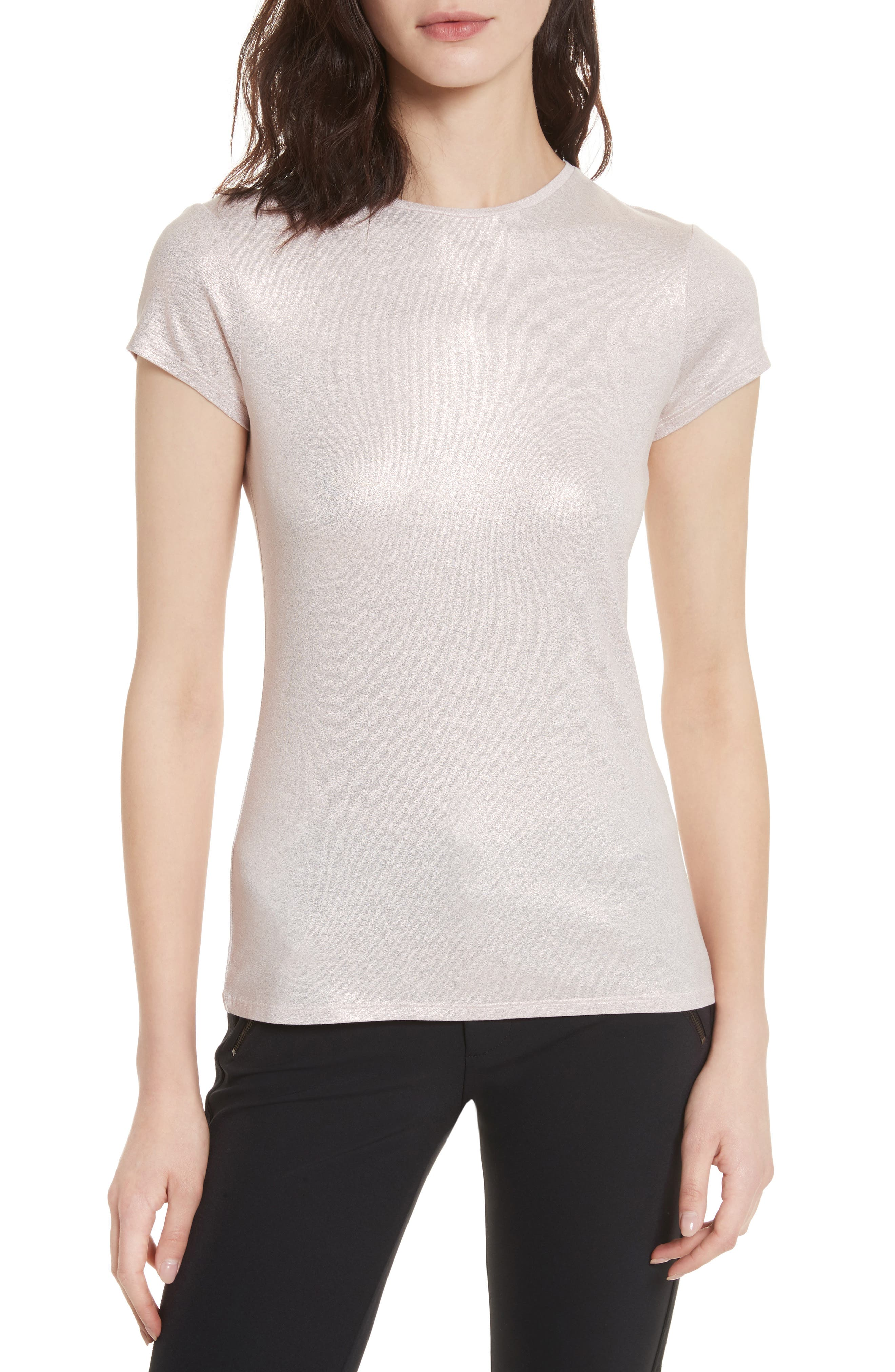 Shimmer Fitted Tee,                             Main thumbnail 1, color,                             680