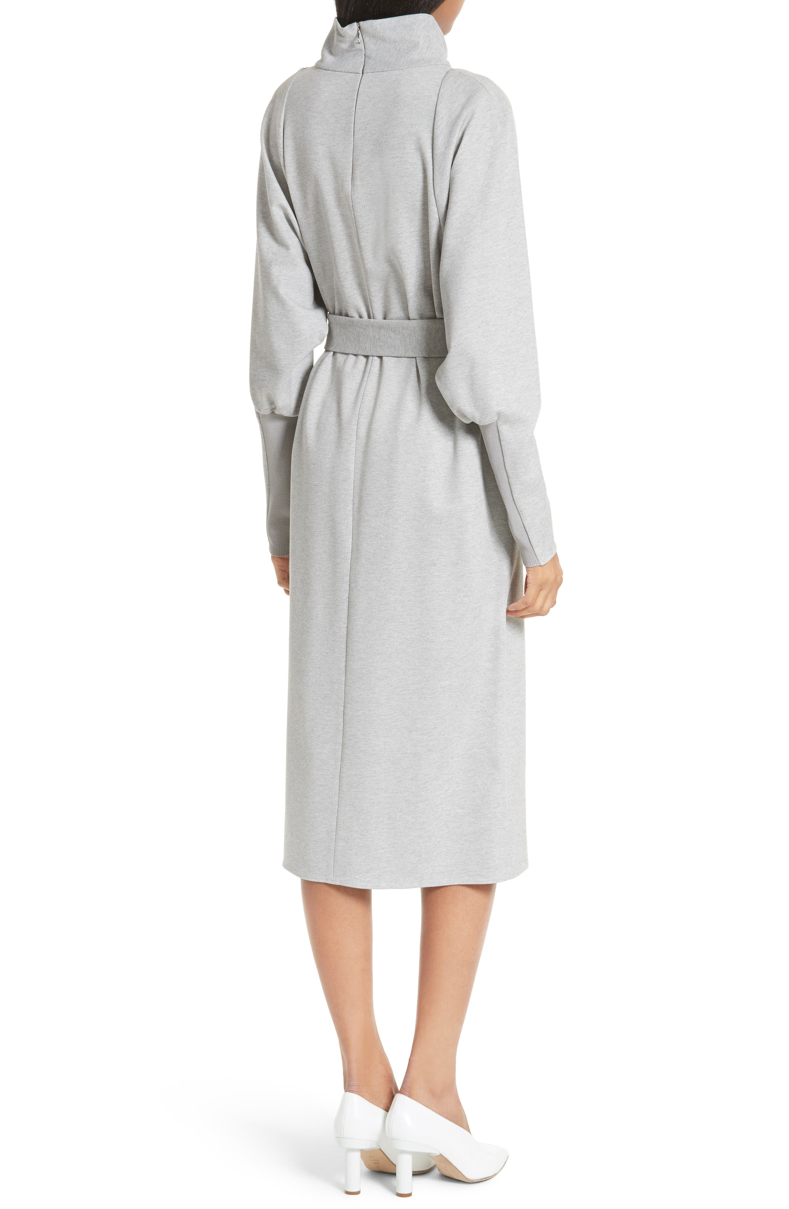 Dolman Sleeve Stretch Twill Midi Dress,                             Alternate thumbnail 2, color,                             020